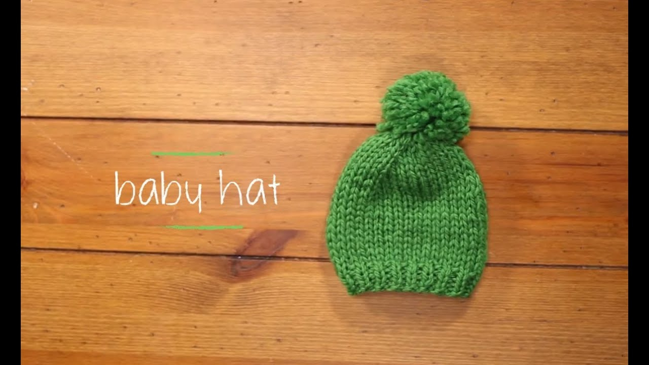 Knitting Patterns Baby Hat Knit Ba Hat With Pattern 1 Hour Knitting Project Knitting Tutorial With Stefanie Japel
