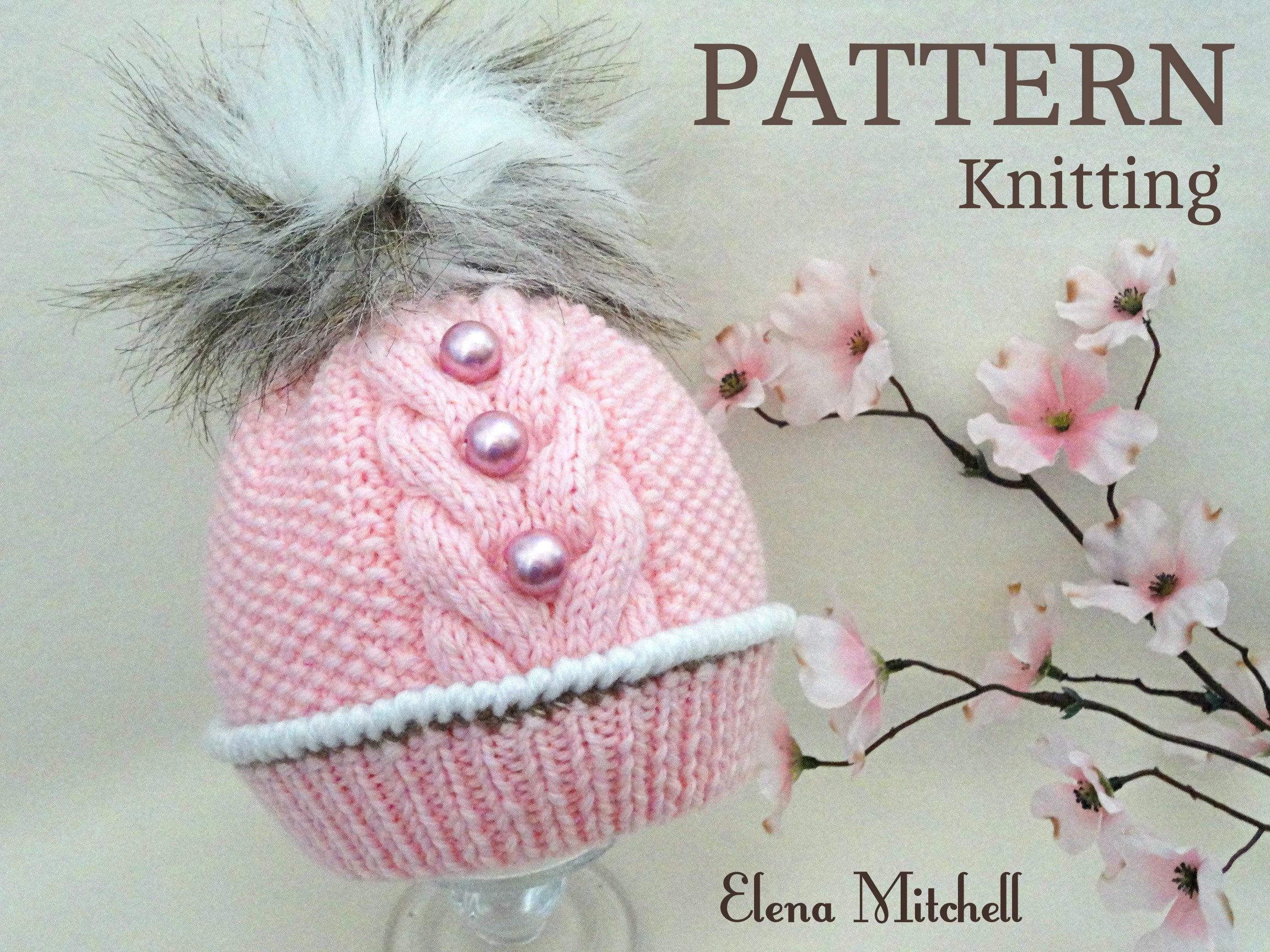 Knitting Patterns Baby Hat Knitting Pattern Ba Hat Patterns Ba Beanie Ba Boy Ba Girl Hat Knitted Ba Hat Knitted Ba Beanie Pompom Hat Infant Hat Pattern Pdf