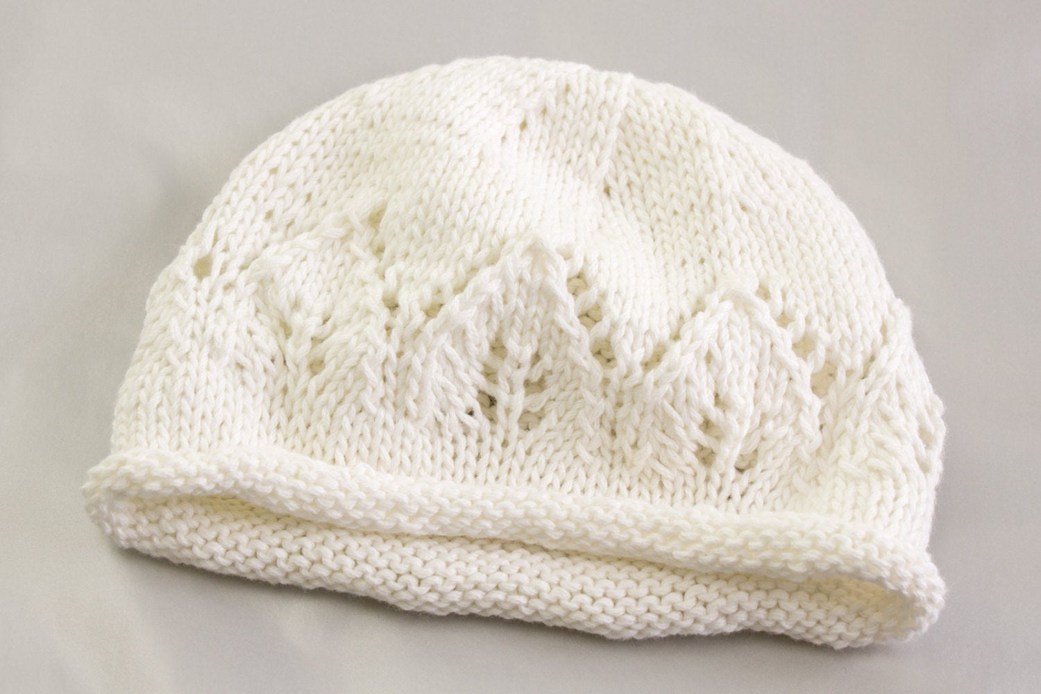 Knitting Patterns Baby Hat Knitting Pattern Newborn Ba Hat Ba Hat With Lace Panel Ba Beanie Ba Hat Rolled Edge Ba Hat Newborn Beanie
