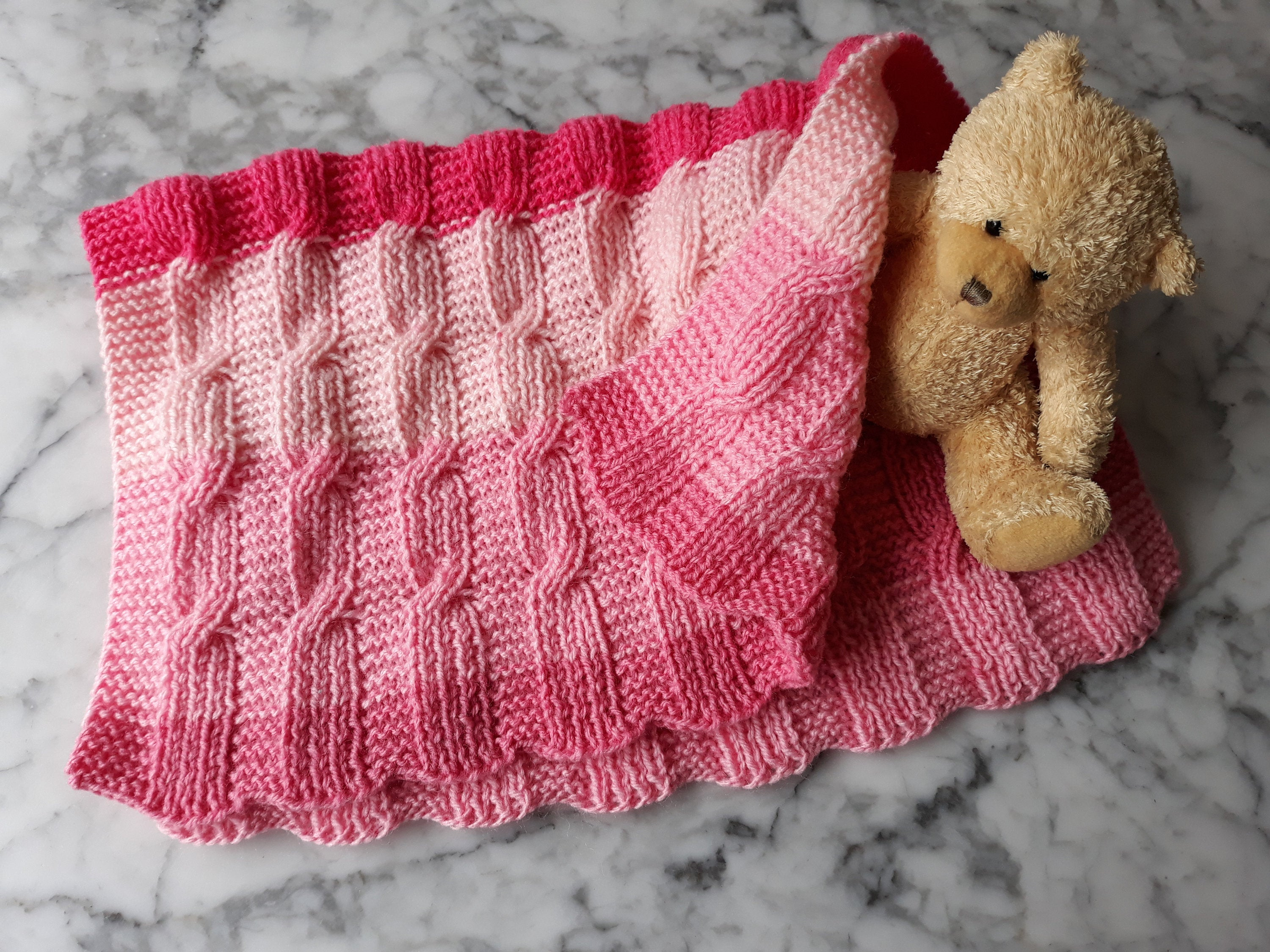 Knitting Patterns For Baby Blankets Easy Ba Blanket Knitting Pattern Instant Download Pdf Easy Aran