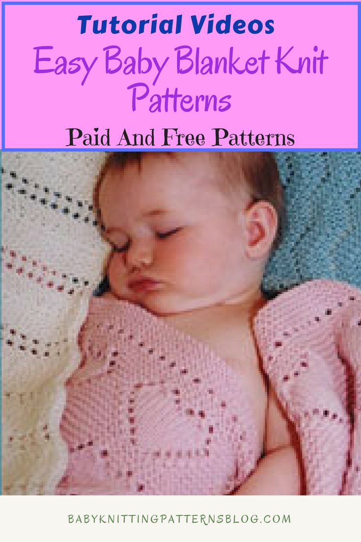 Knitting Patterns For Baby Blankets Easy Easy Ba Blanket Knitting Pattern Great Way To Start Knitting