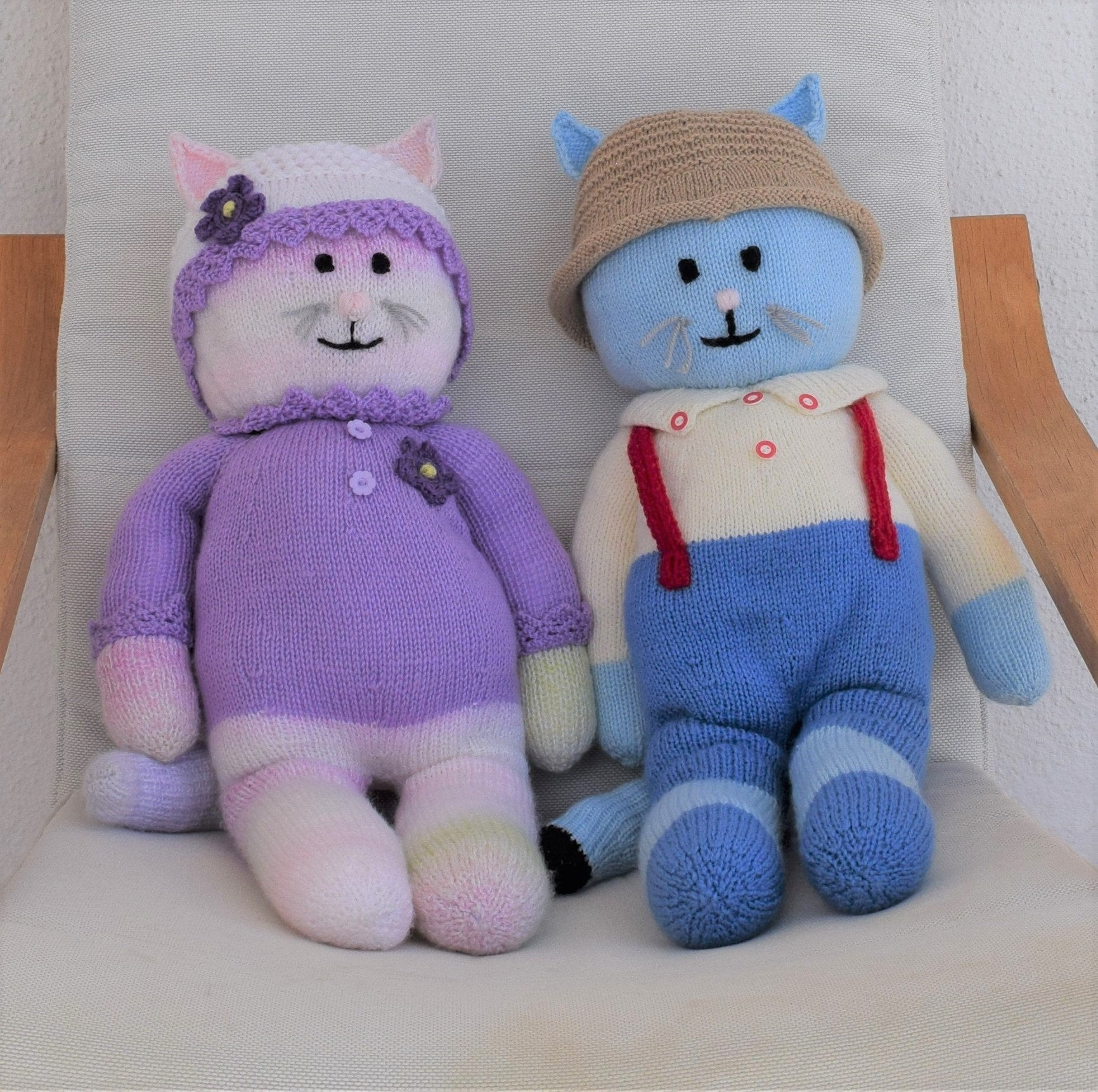 Knitting Patterns For Baby Toys Boy And Girl Cat Knitting Pattern Knitted Animal Toys Handmade