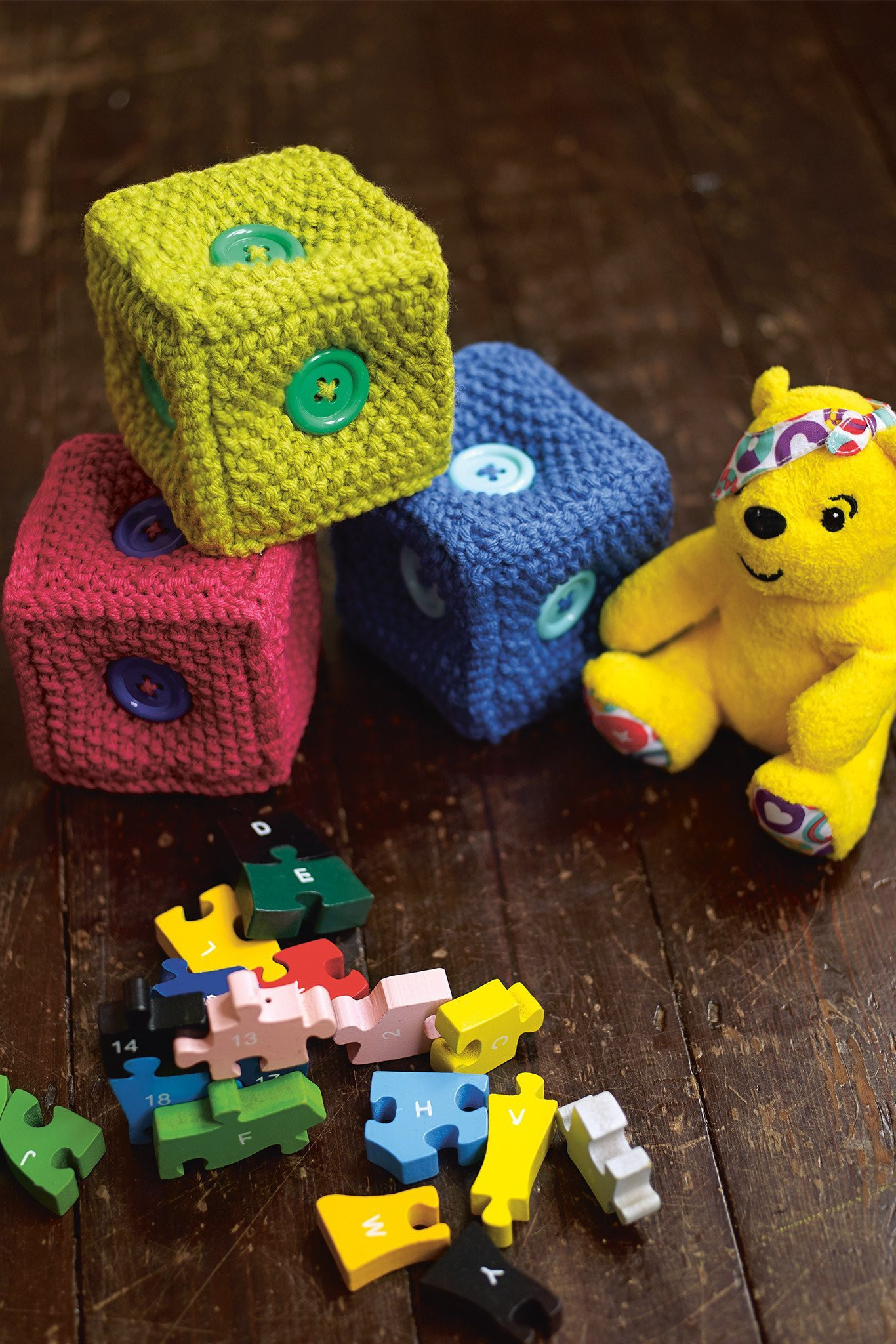 Knitting Patterns For Baby Toys Building Brick Toys Knitting Pattern