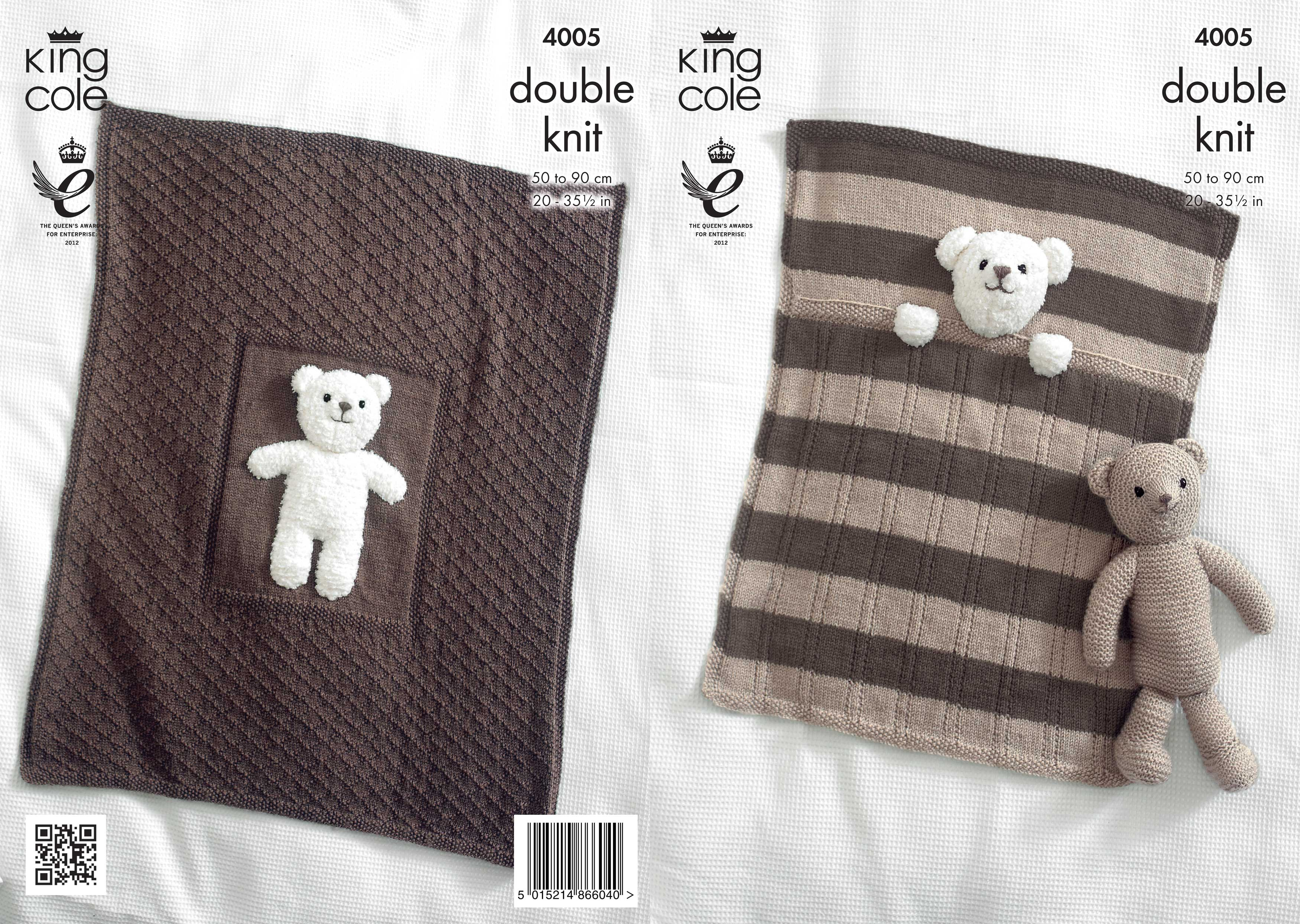 Knitting Patterns For Baby Toys Details About King Cole Double Knitting Pattern Blanket Teddy Bear Toy Cuddles Comfort Dk 4005