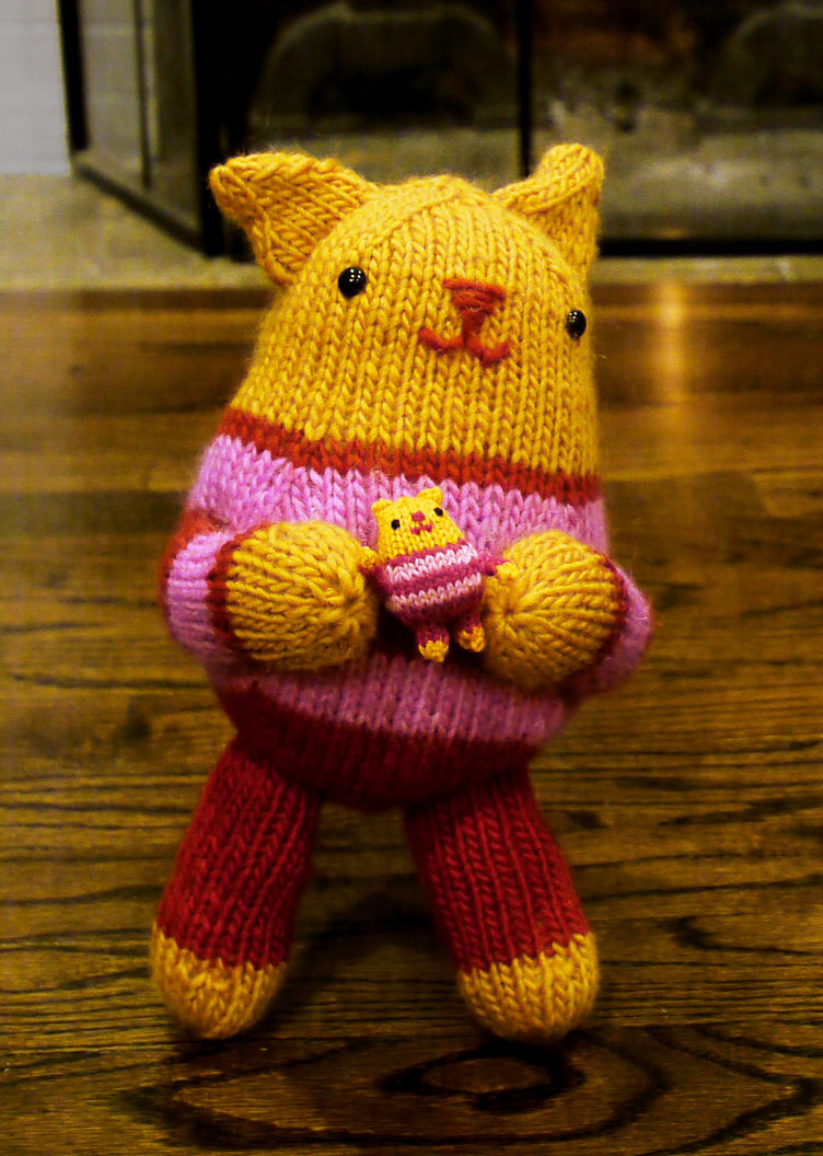 Knitting Patterns For Cat Toys Cat And Kitten Knitting Patterns In The Loop Knitting