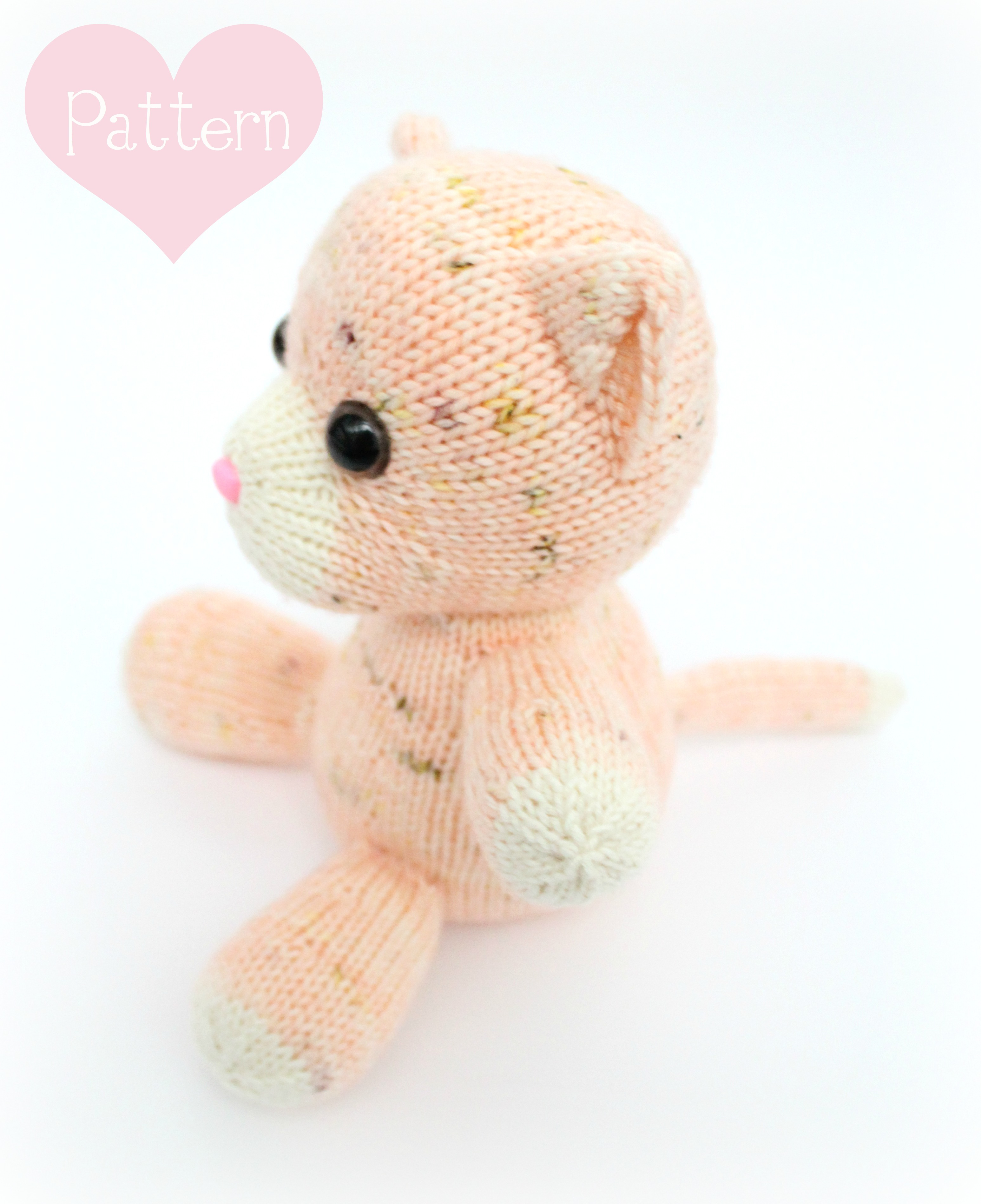 Knitting Patterns For Cat Toys Free Knitting Pattern Peaches The Kitten Knitted Toy Cat Pattern