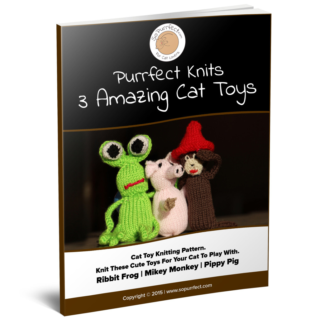 Knitting Patterns For Cat Toys Knitting Pattern Pack Get 3 Cat Toy Patterns Pippy The Pig Mikey The Monkey And Ribbit The Frog Sopurrfect