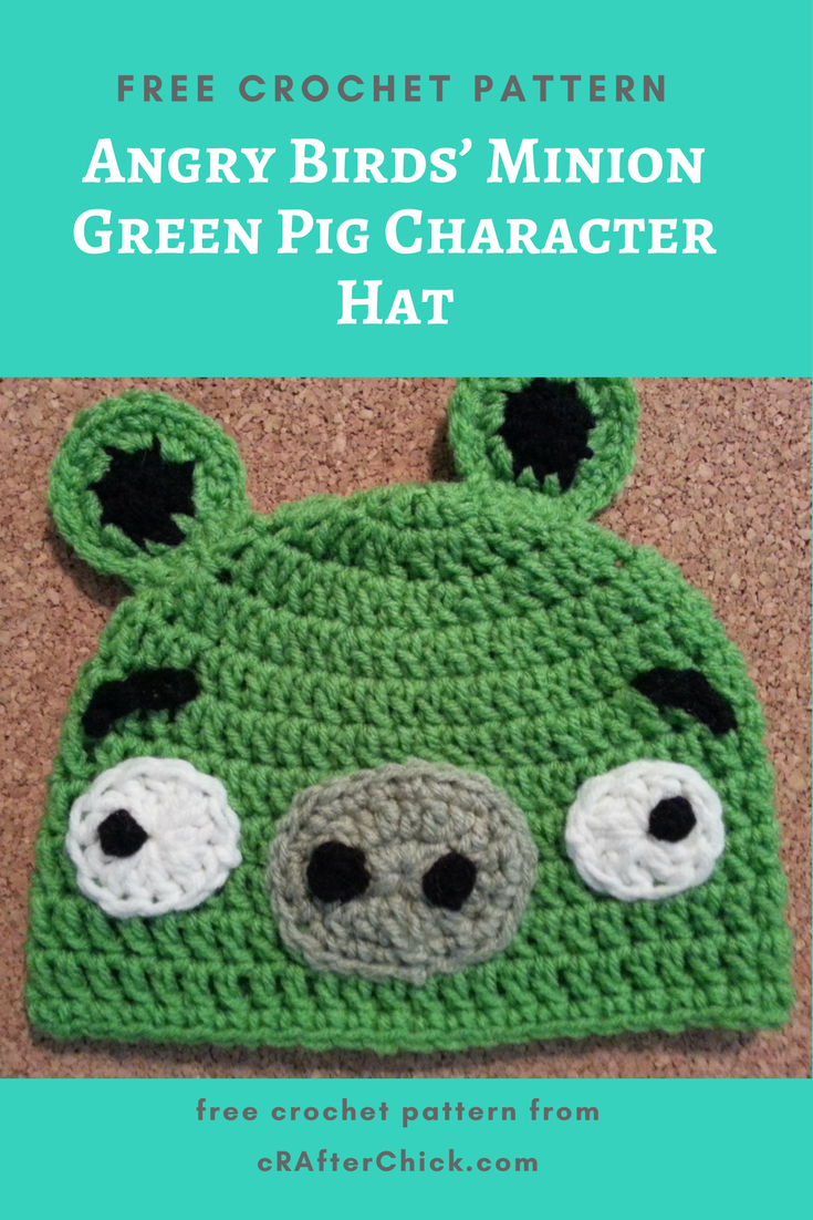 Knitting Patterns For Minion Hats Angry Birds Minion Green Pig Character Hat Crochet Pattern
