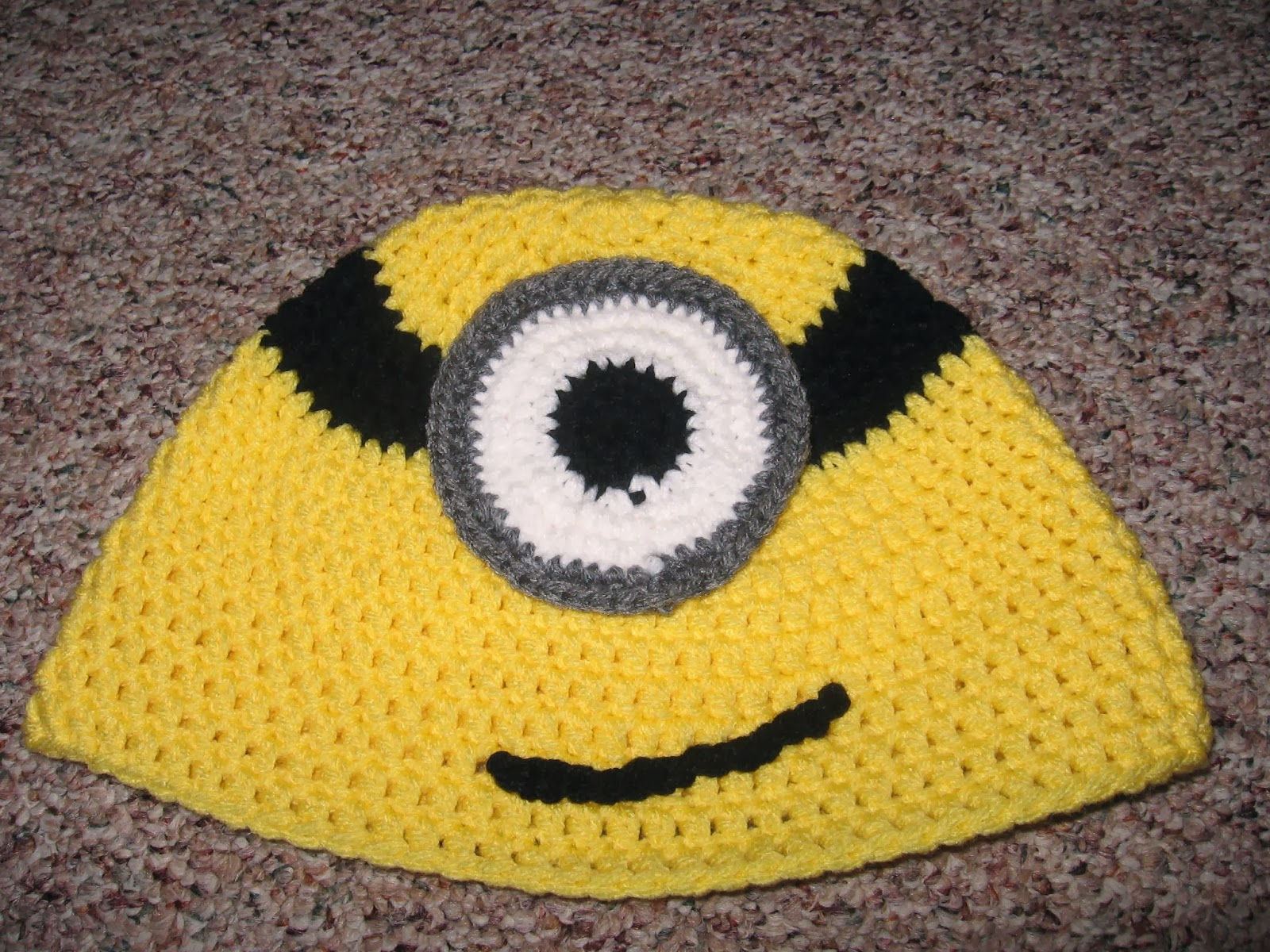 Knitting Patterns For Minion Hats Crafting Adventures Minion Hat