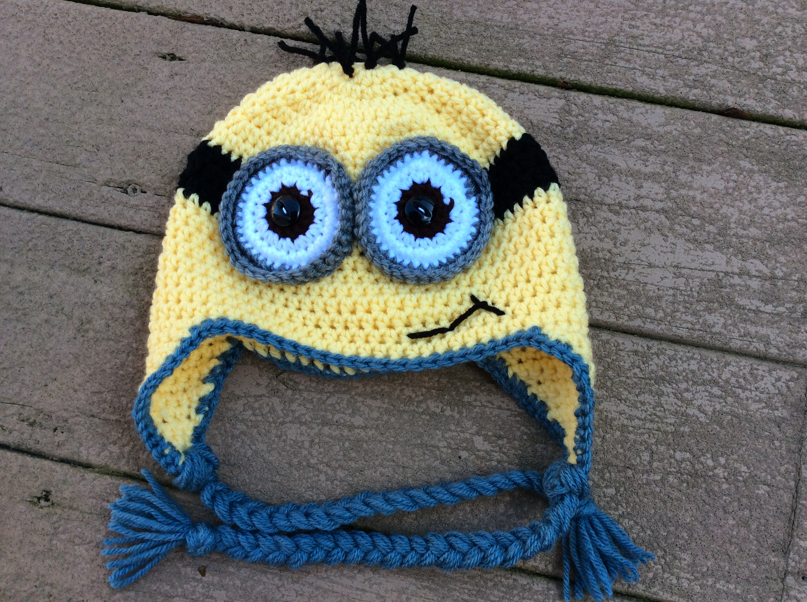 Knitting Patterns For Minion Hats Crochet Minion Hat From Yarnover The Moon