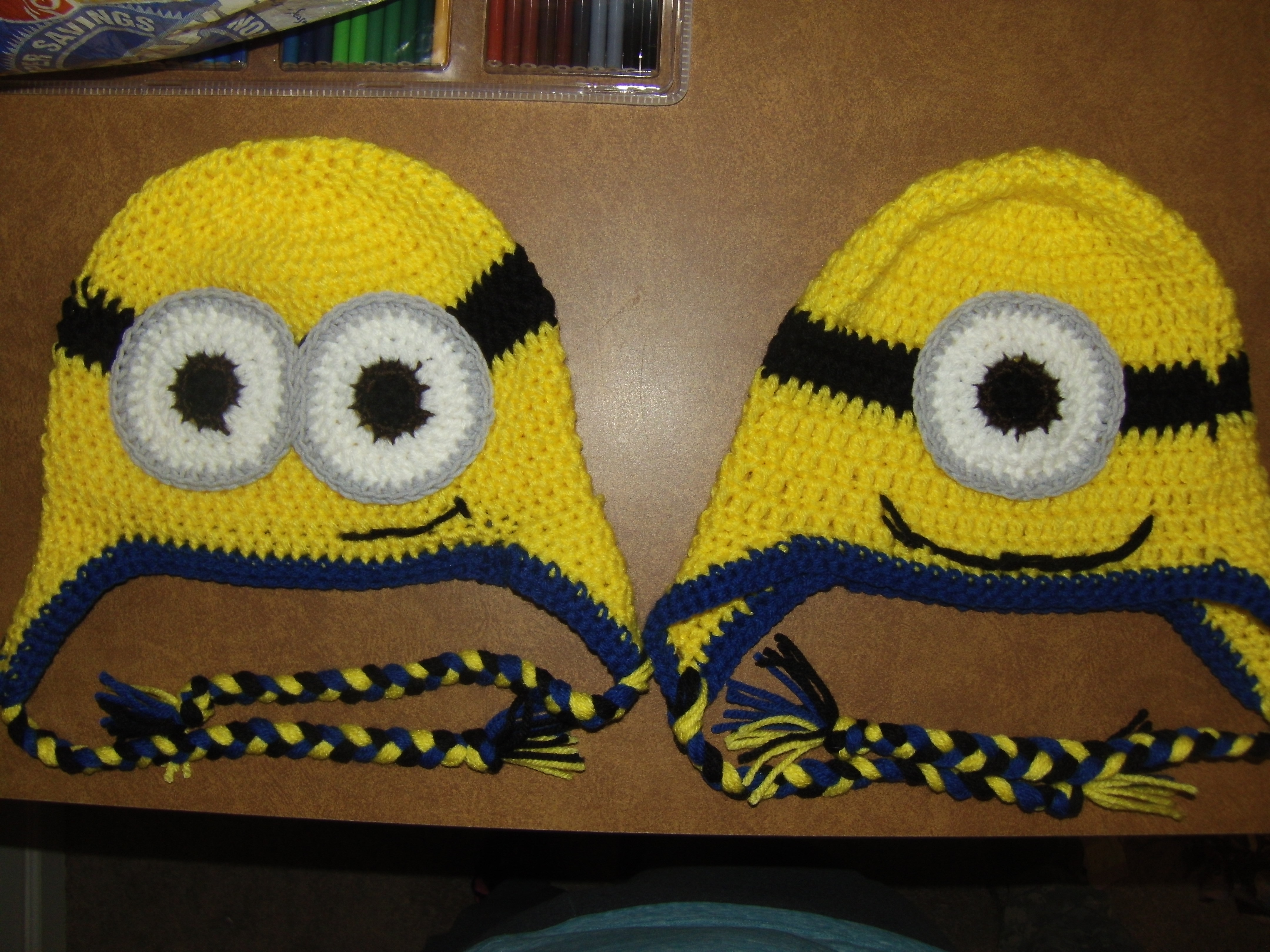 Knitting Patterns For Minion Hats Crochet Minion Hat Hand Warmers Blessed Dragons Academy