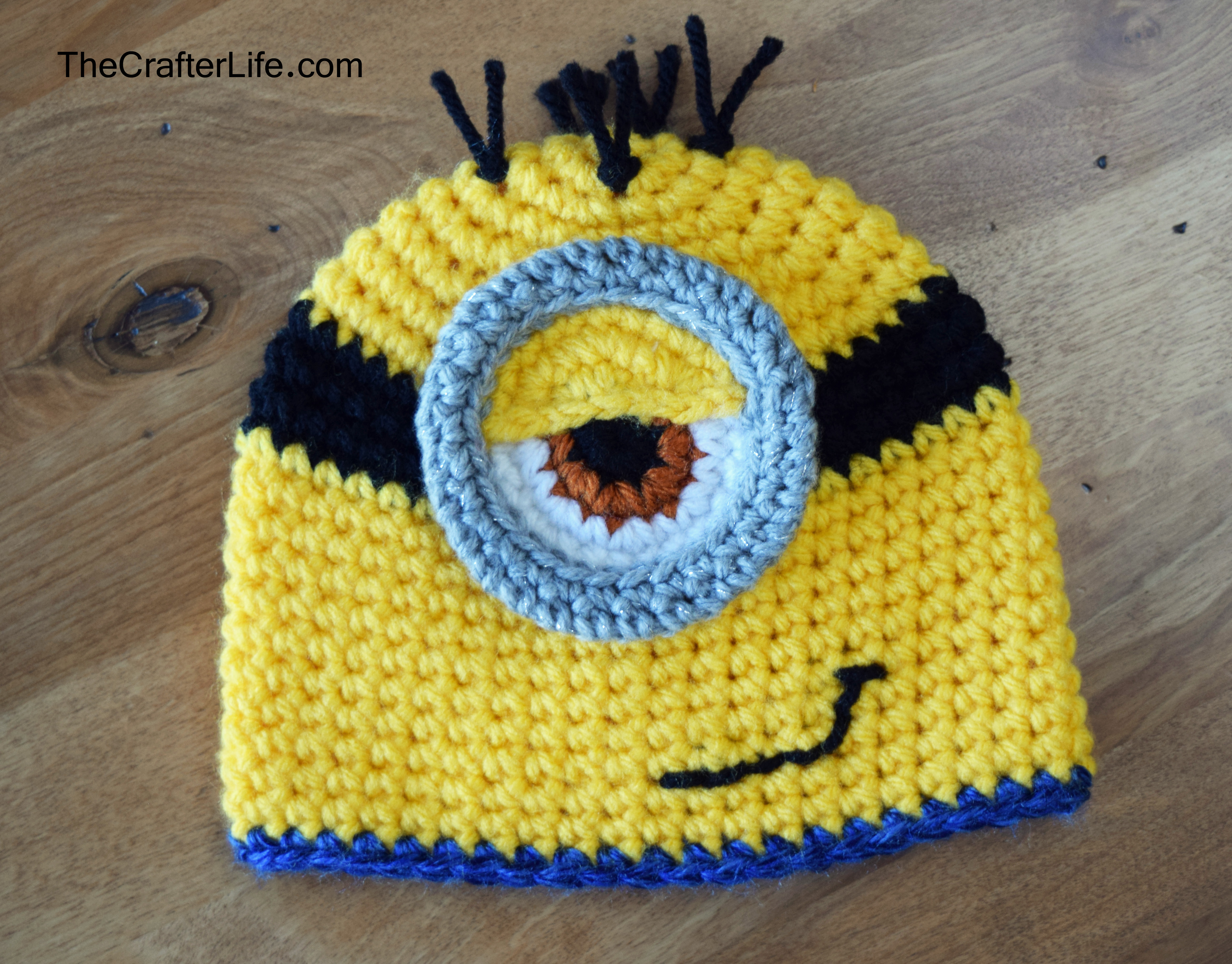 Knitting Patterns For Minion Hats Hat And Bib Set The Crafter Life