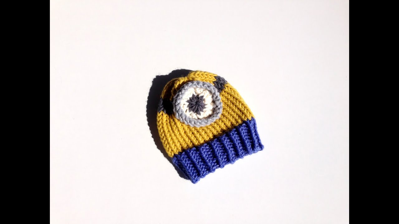 Knitting Patterns For Minion Hats How To Loom Knit A Minion Hat Diy Tutorial