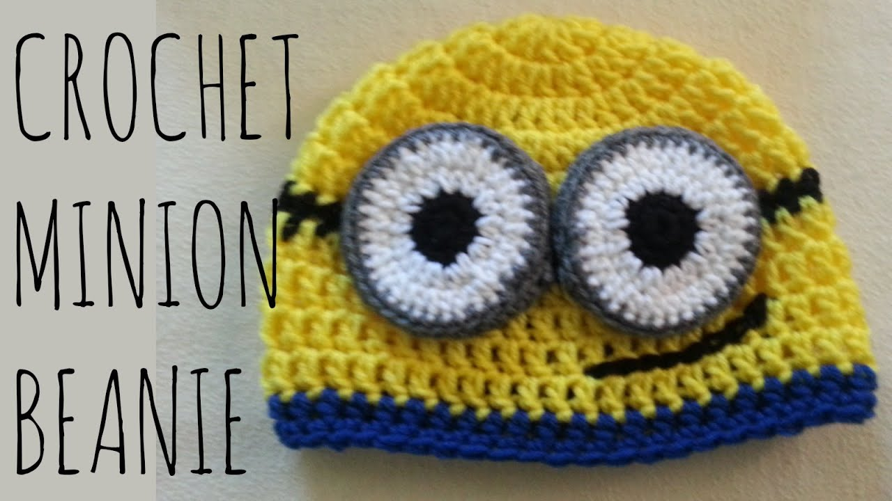Knitting Patterns For Minion Hats Minion Beanie Crochet Pattern Character Creation Tutorial