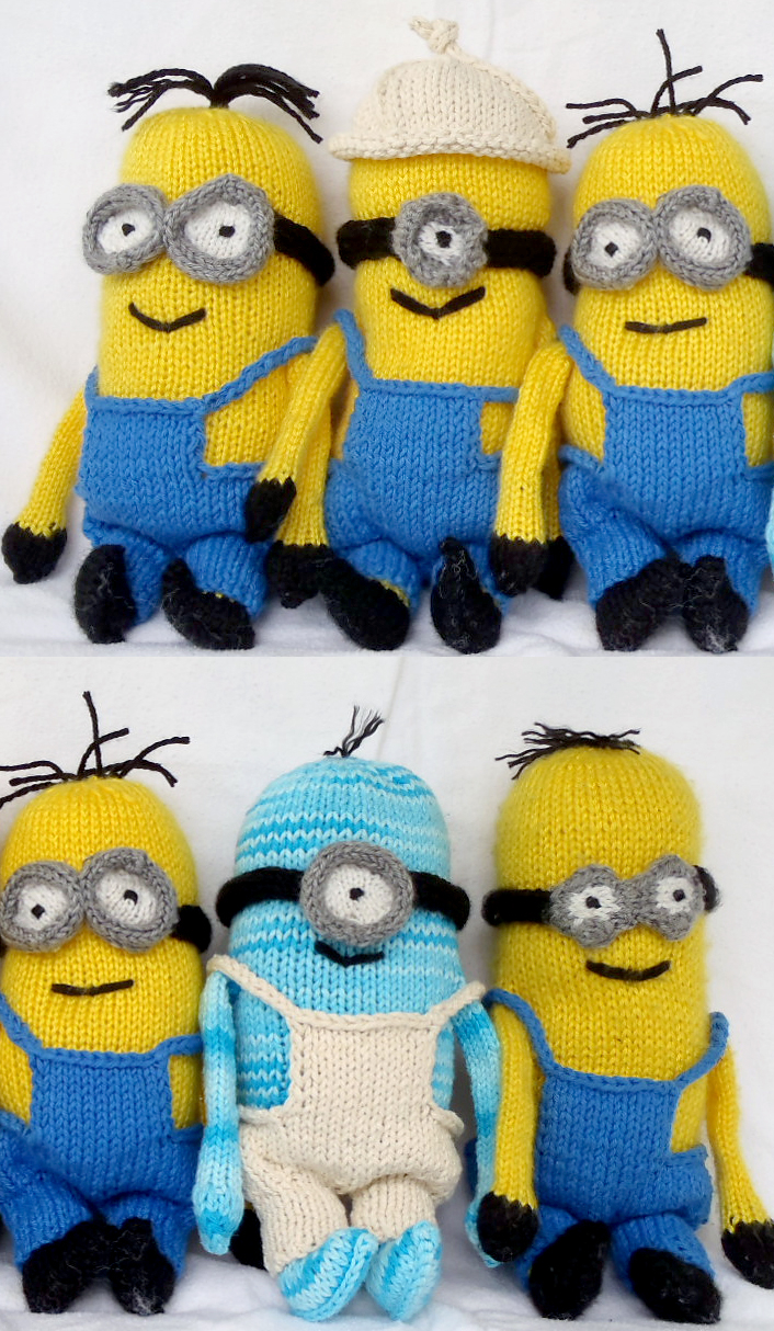 Knitting Patterns For Minion Hats Minions And Despicable Me Knitting Patterns In The Loop Knitting