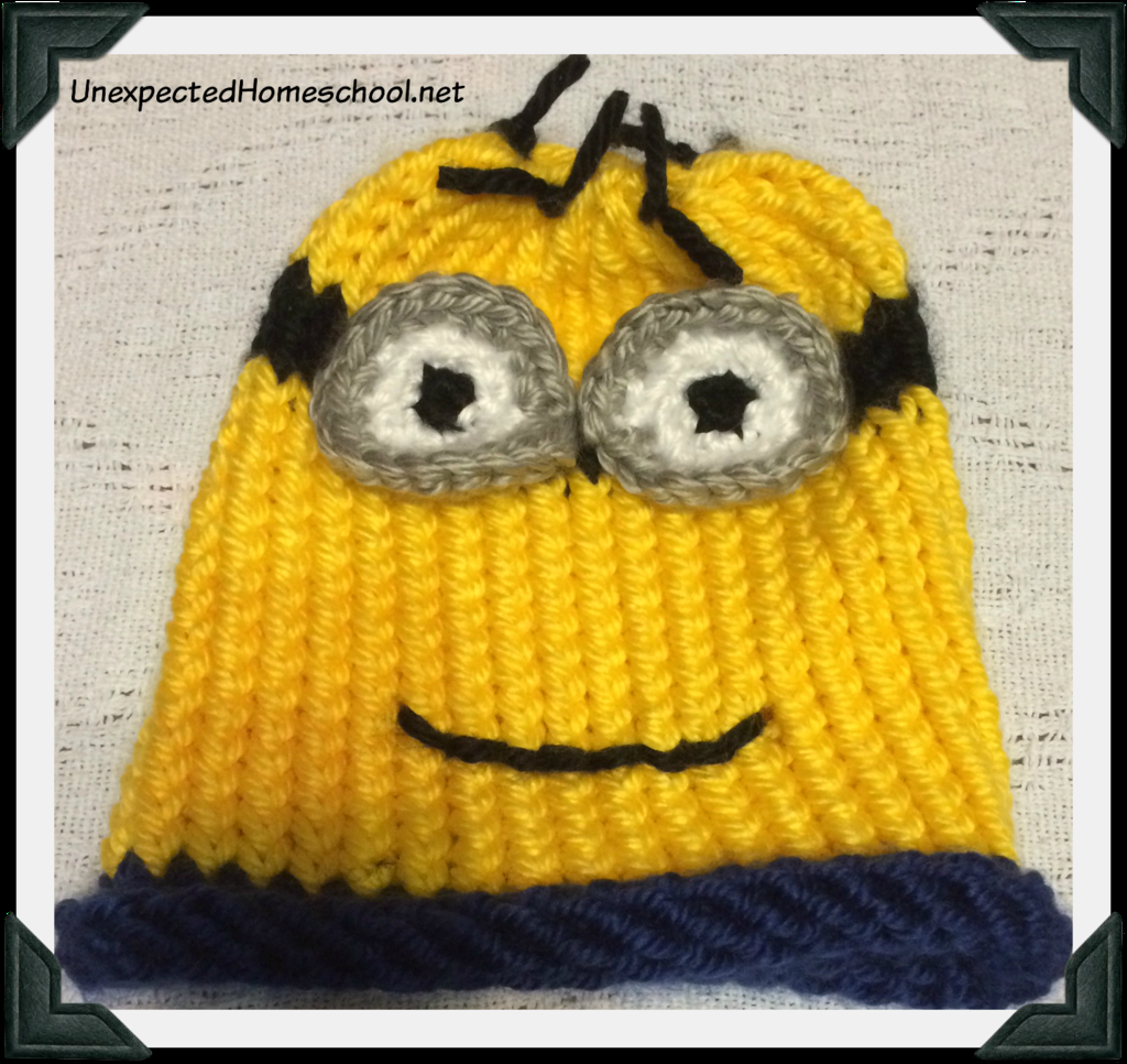 Knitting Patterns For Minion Hats Unexpected Homeschool Knitted Childs Minion Hat
