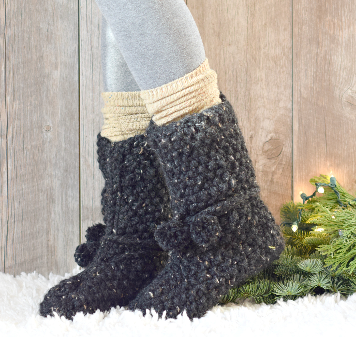 Knitting Patterns For Slipper Boots Mountain Chalet Boot Slipper Knitting Pattern Knit Flat Mama In