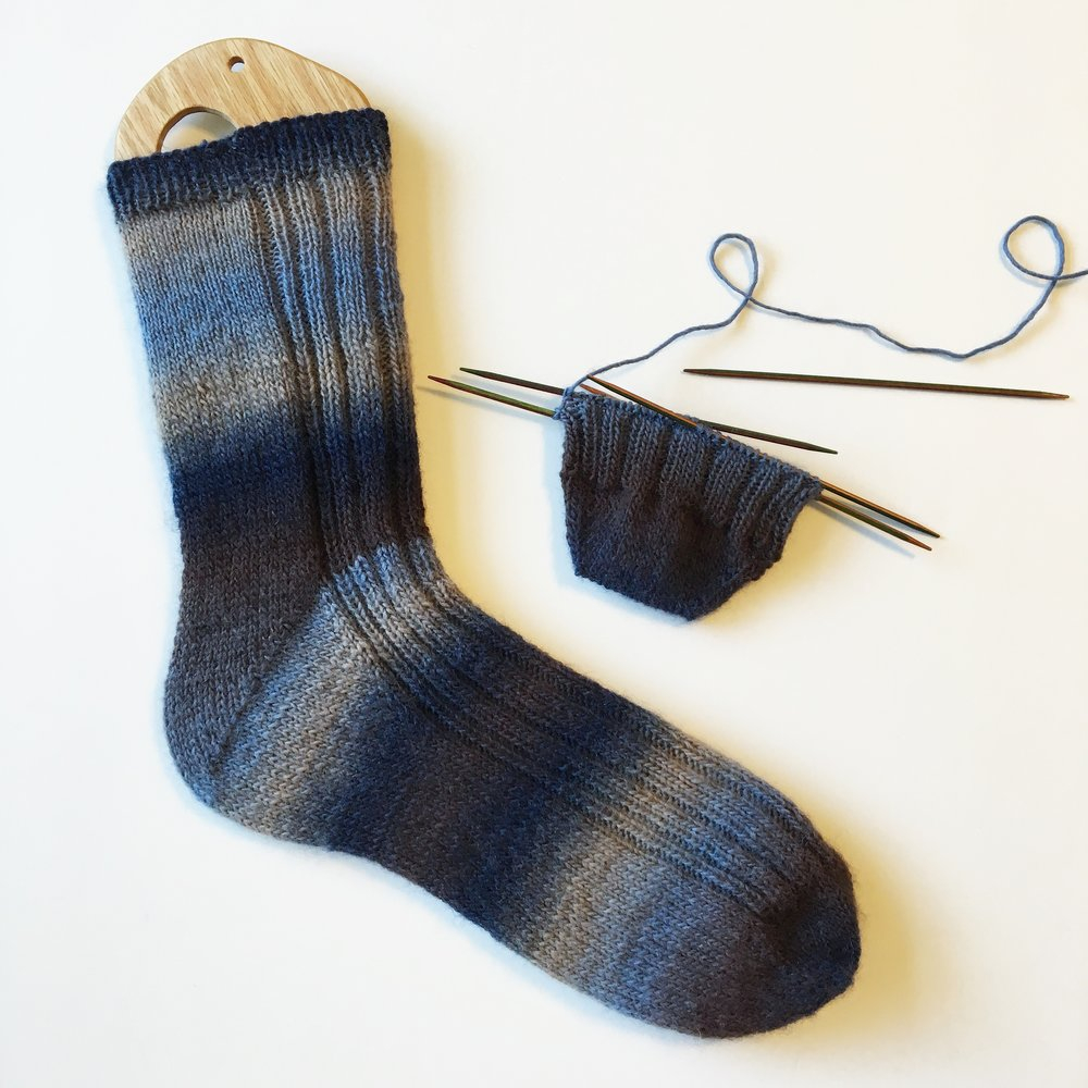 Knitting Patterns For Socks Free Knitting Pattern Dad Joke Socks The Black Squirrel