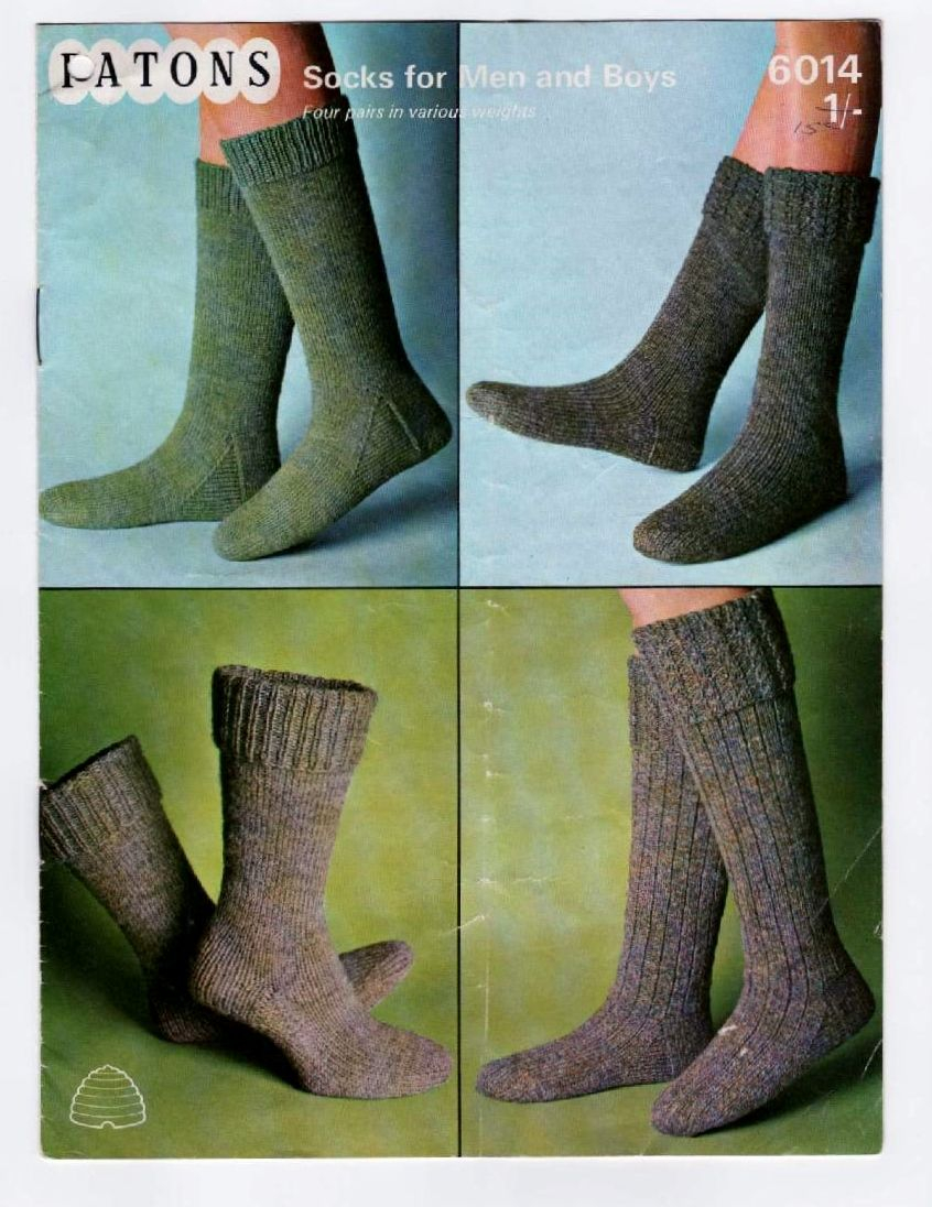 Knitting Patterns For Socks Pdf Vintage Knitting Pattern Socks For Men Boys Various Lengths
