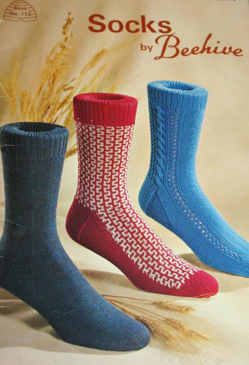 Knitting Patterns For Socks Socks Knitting Patterns Socks Beehive Patons 113 For Men Paper Original Not A Pdf