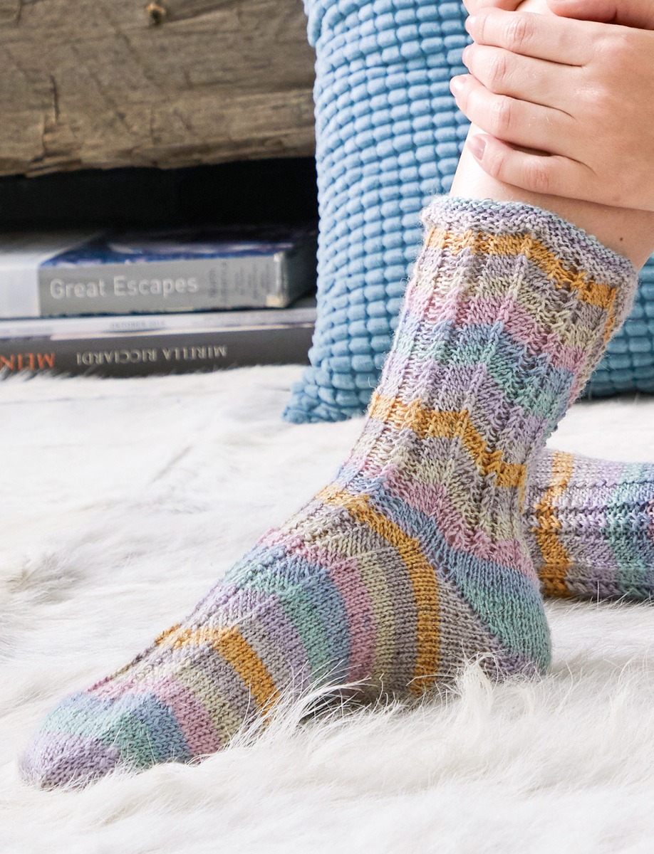 Knitting Patterns For Socks Socks Meilenweit 100g Glamy