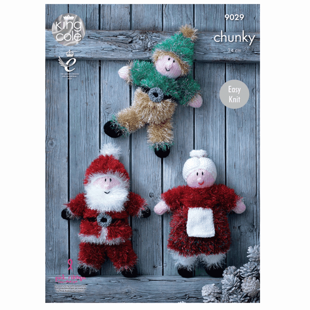 Knitting Patterns For Toys Uk 9029 Knitting Pattern Tinsel Christmas Toys To Knit