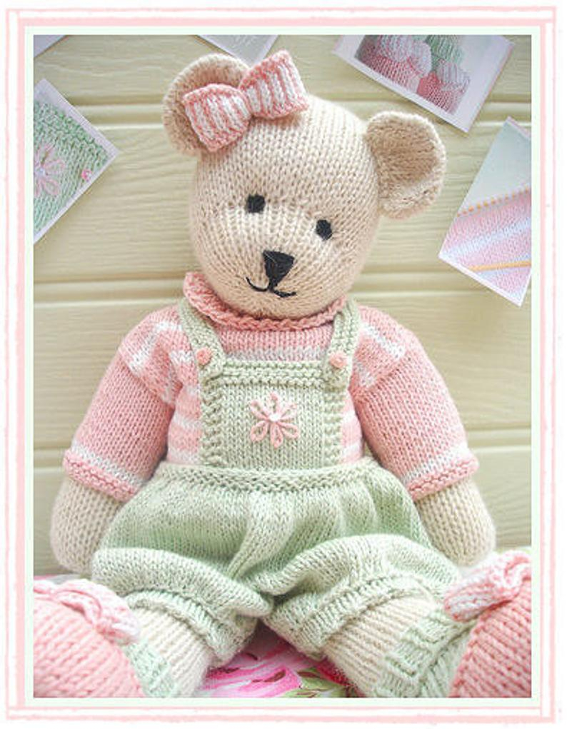 Knitting Patterns For Toys Uk Candy Bear Toy Teddy Bear Knitting Pattern Pdf Plus Free Handmade Shoes Knitting Pattern Instant Download