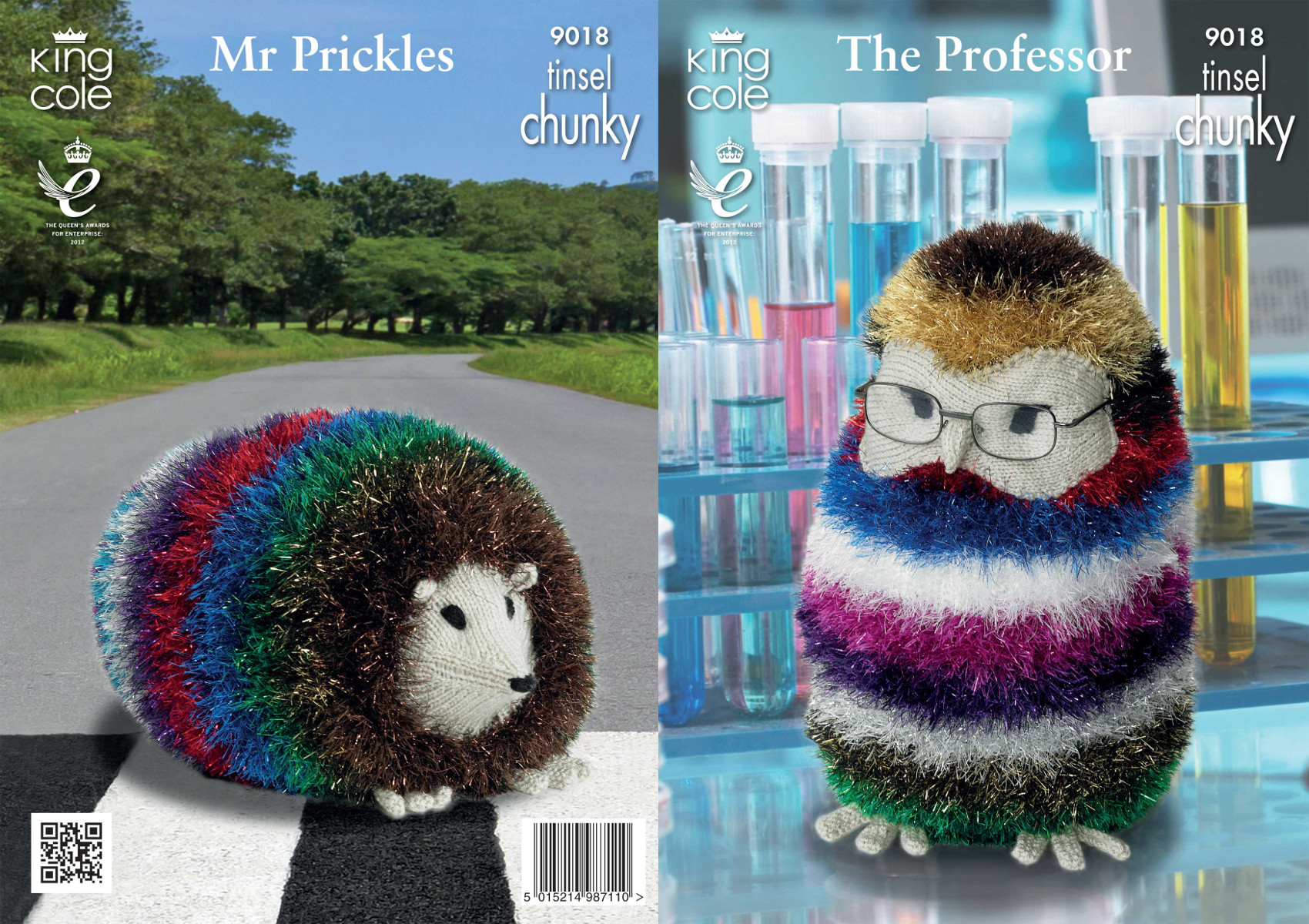 Knitting Patterns For Toys Uk Details About King Cole The Professor Owl Mr Prickles Hedgehog Tinsel Knitting Pattern 9018