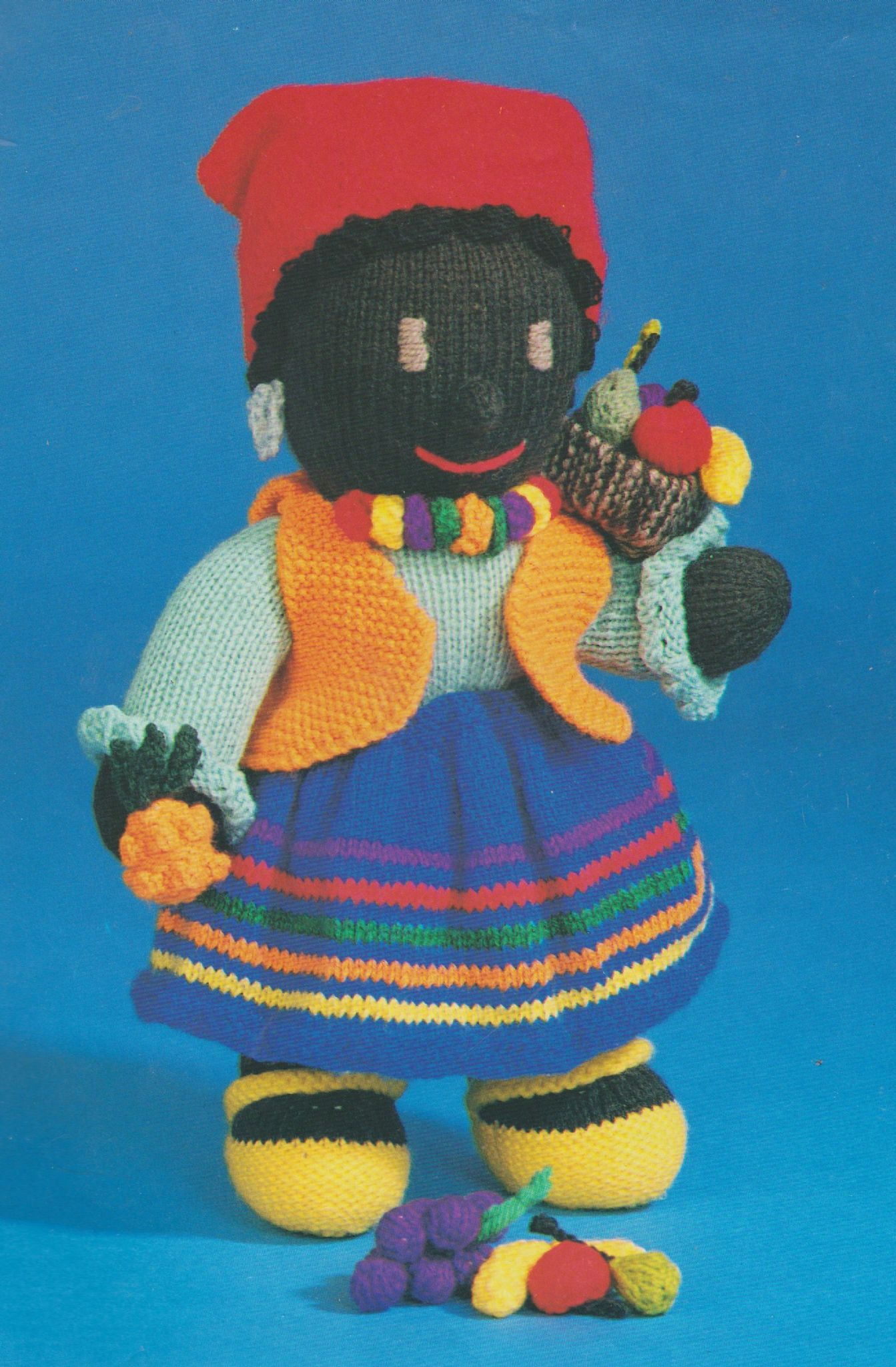 Knitting Patterns For Toys Uk Pdf Digital Vintage Knitting Pattern Stuffed Soft Body Doll Toy Jamaican Girl 30 Cm Double Knittin