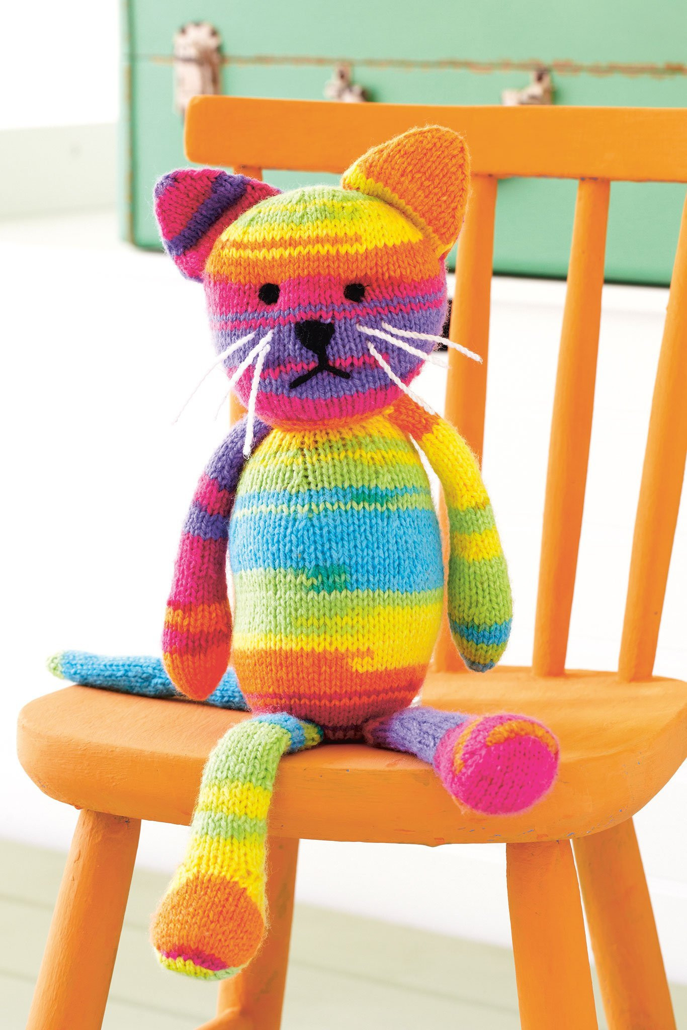 Knitting Patterns For Toys Uk Rainbow Cat Toy Knitting Pattern