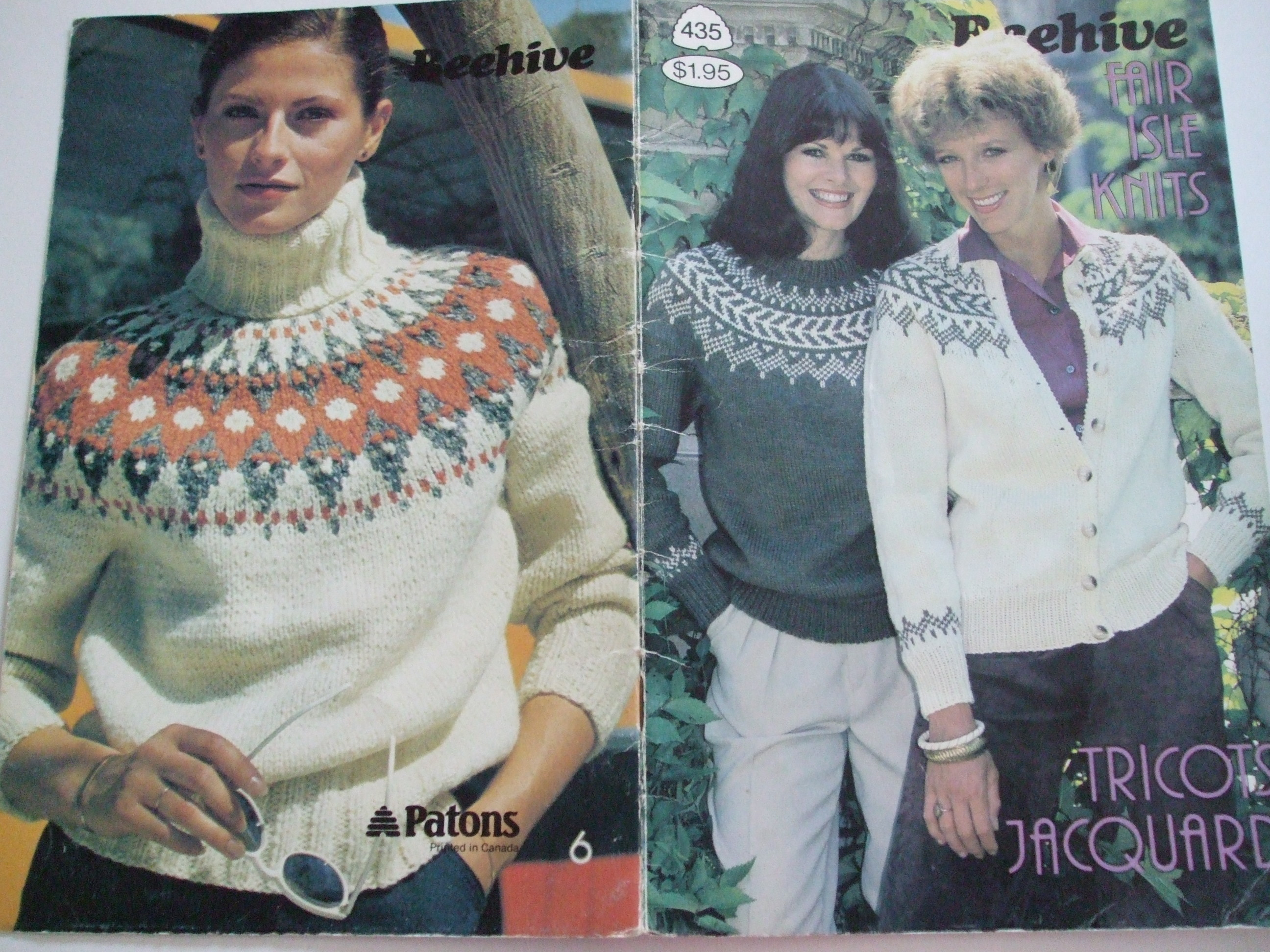Knitting Patterns For Women 435 Fair Isle Knits Knitting Patterns Tricots Jacquard Beehive Women
