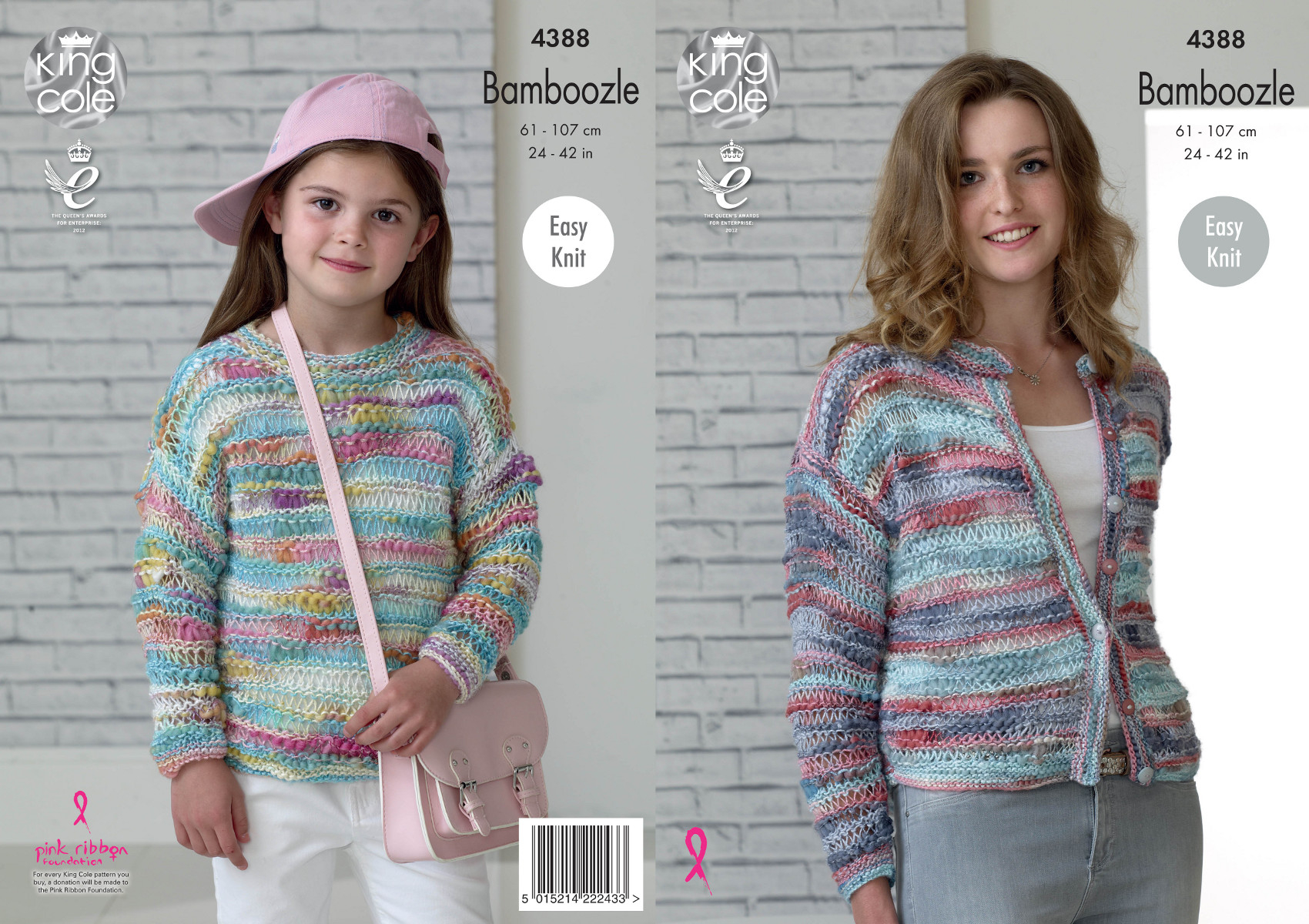 Knitting Patterns For Women Details About King Cole Bamboozle Knitting Pattern Women Girls Easy Knit Sweater Cardigan 4388