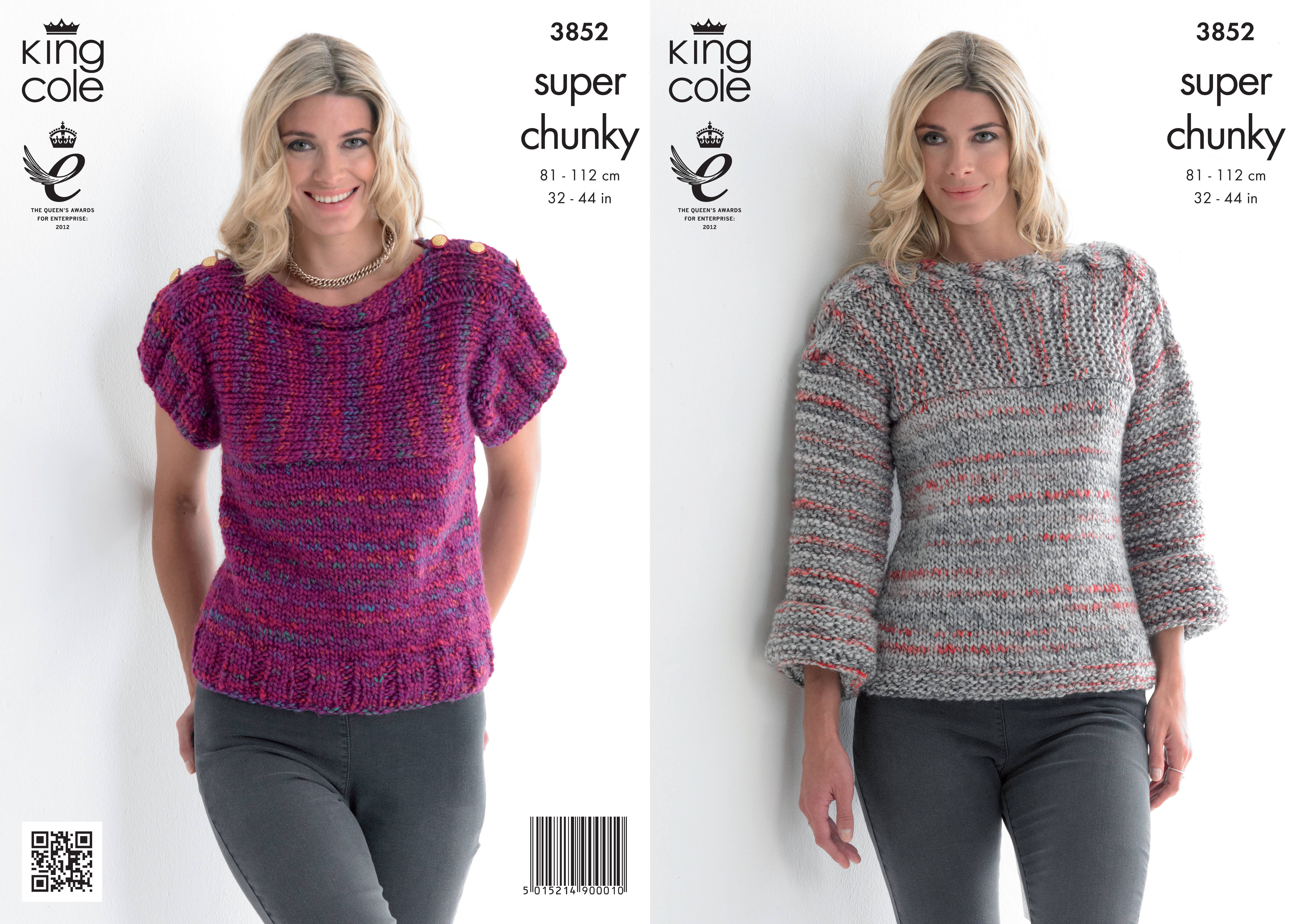 Knitting Patterns For Women Details About King Cole Ladies Gypsy Super Chunky Knitting Pattern Womens Sweater Top 3852