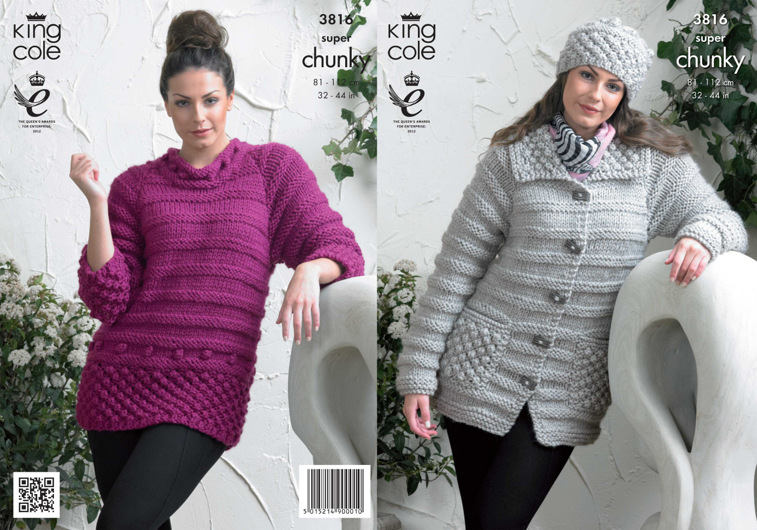 Knitting Patterns For Women Details About King Cole Ladies Knitting Pattern Womens Super Chunky Jacket Sweater Hat 3816