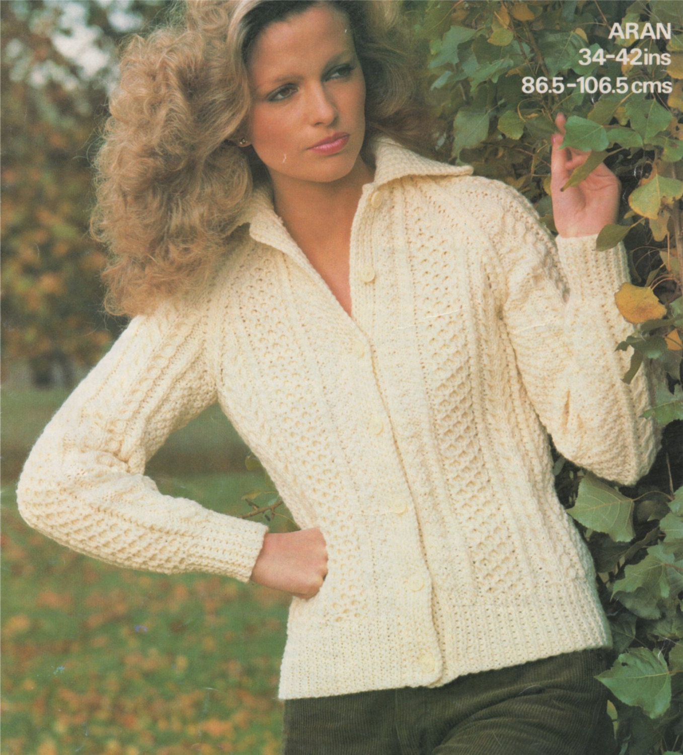 Knitting Patterns For Women Womens Aran Jacket Knitting Pattern Pdf Ladies 34 36 38 40 And 42 Inch Bust Cardigan Vintage Knitting Patterns For Women Download