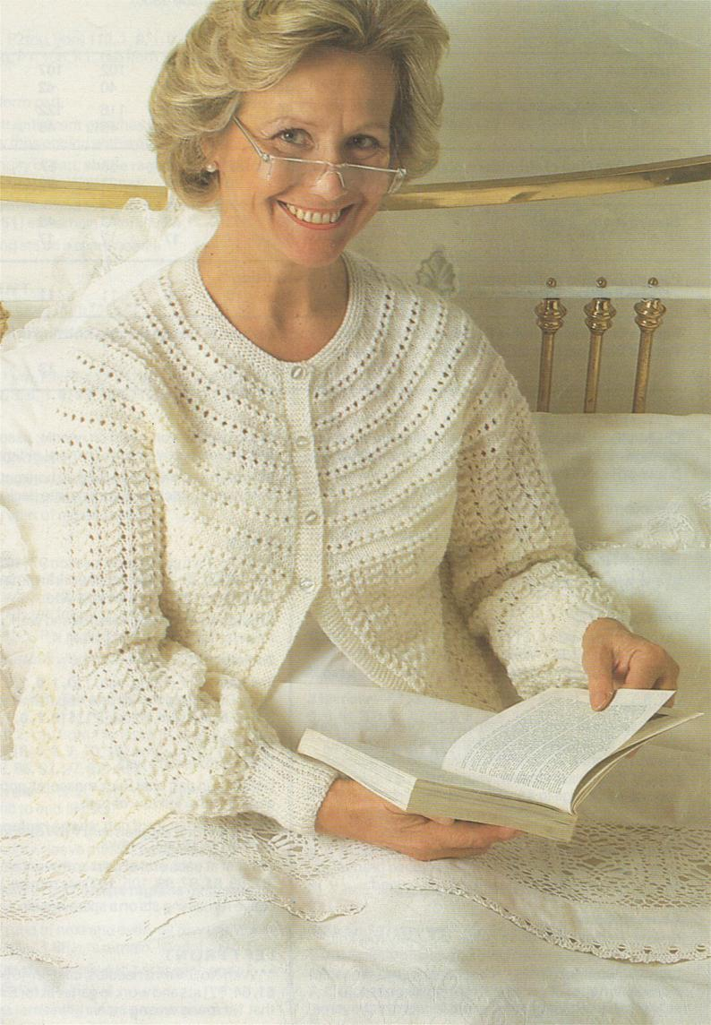 Knitting Patterns For Women Womens Bedjacket Knitting Pattern Pdf Ladies 32 34 36 38 40 42 44 And 46 Inch Bust Bed Cardigan Vintage Knitting Patterns For Women
