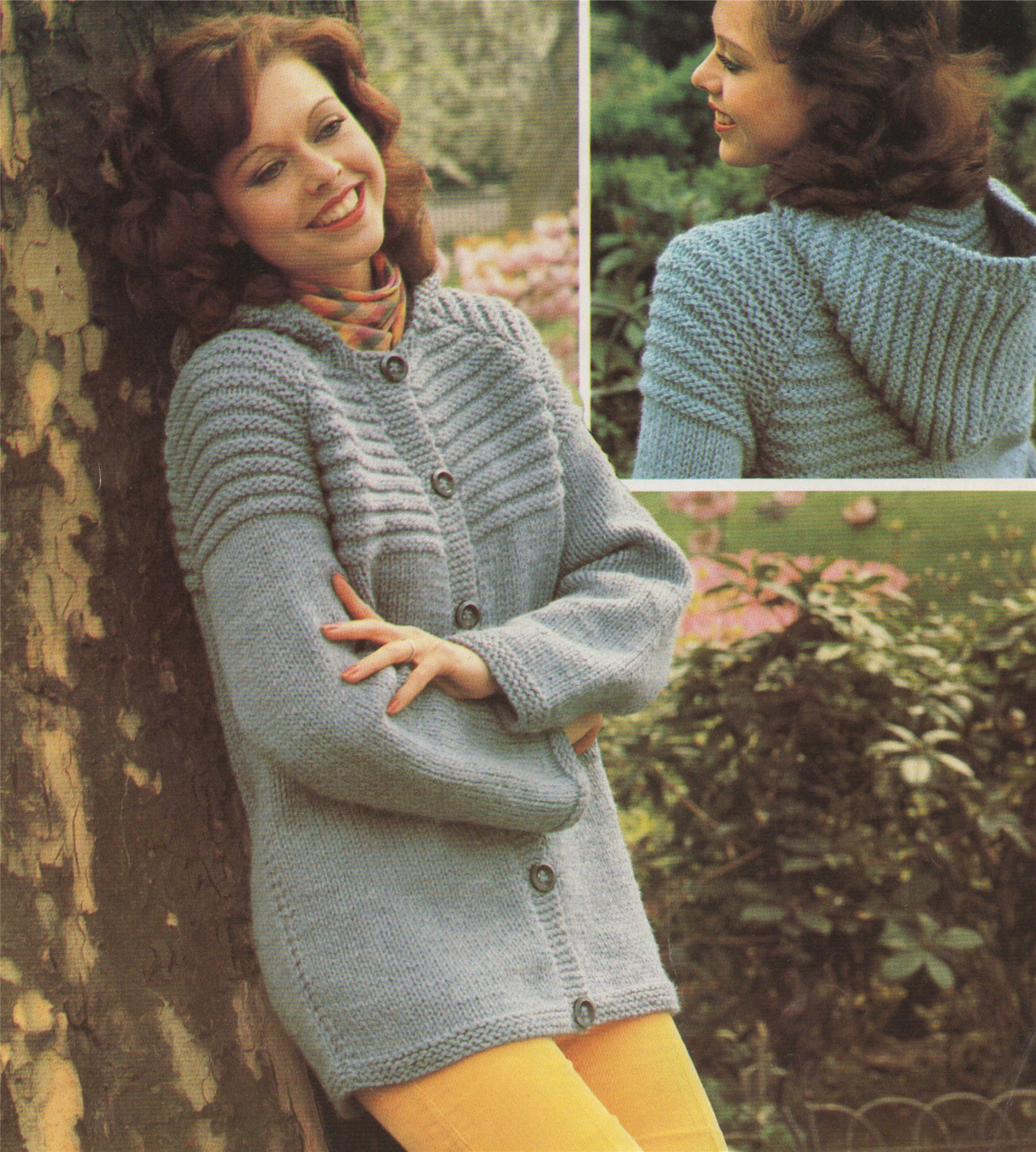 Knitting Patterns For Women Womens Hooded Jacket Knitting Pattern Pdf Ladies 32 34 36 38 And 40 Inch Chest Hoodie Cardigan Vintage Knitting Patterns For Women