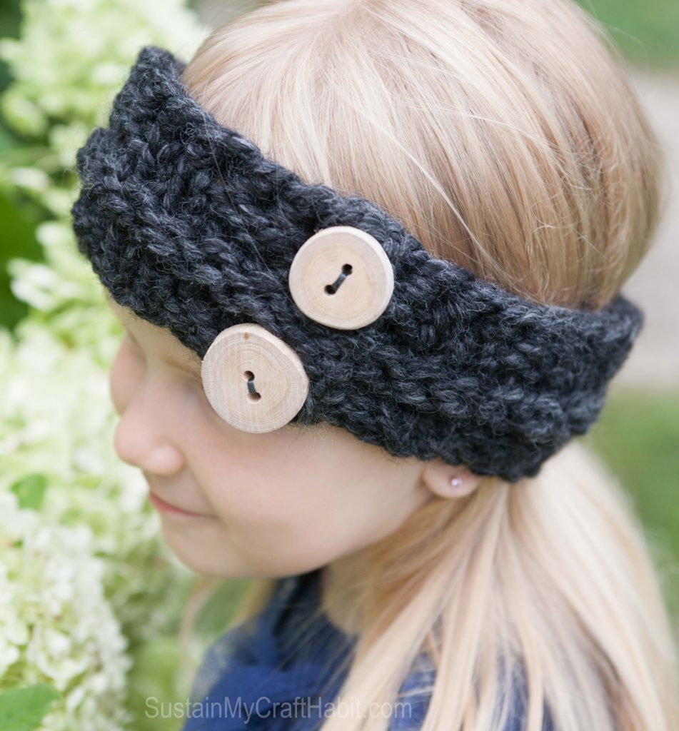 Knitting Patterns Headbands Childs Easy Free Knitted Headband Pattern Sustain My Craft Habit
