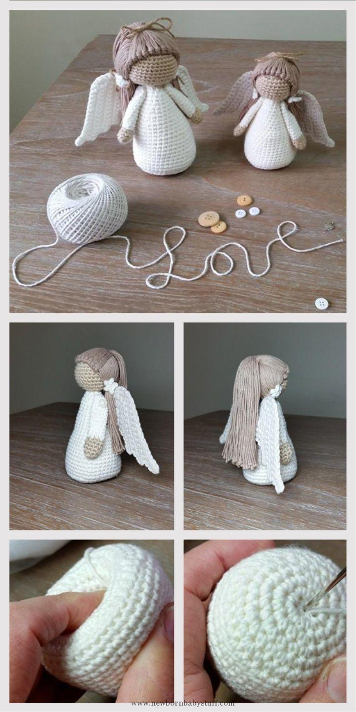Knitting Patterns Tutorial Ba Knitting Patterns Amigurumi Doll Angel Tutorial
