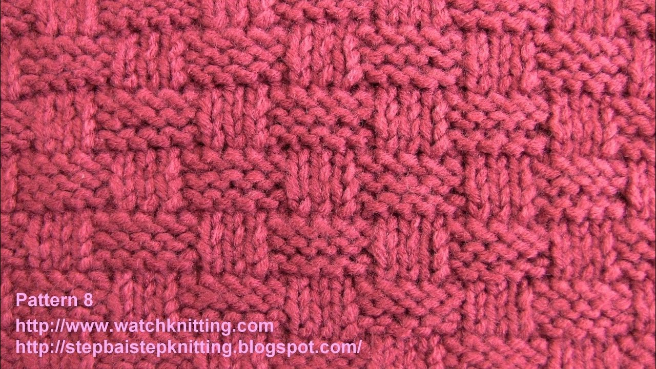 Knitting Patterns Tutorial Basket Stitch Free Knitting Tutorials Watch Knitting Pattern 8