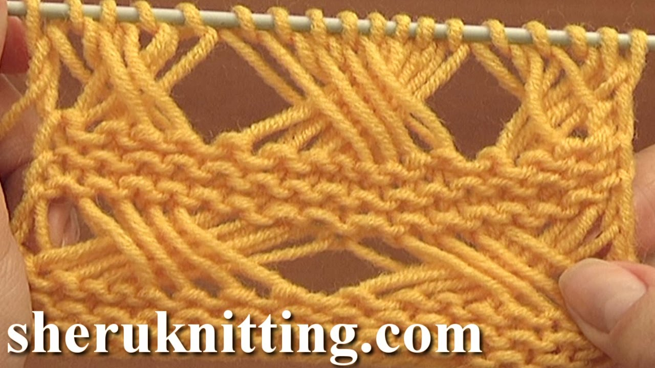 Knitting Patterns Tutorial Cross Stitch Knitting Pattern Tutorial 7 Long Loops Extended Stitches