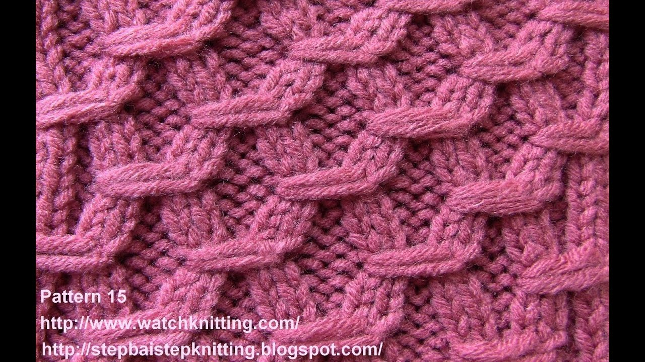 Knitting Patterns Tutorial Hexagonal Embossed Stitches Free Knitting Tutorial Watch Knitting Pattern 15