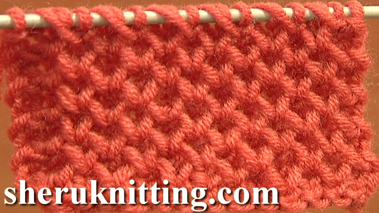 Knitting Patterns Tutorial Honeycomb Knitting Stitch How To Tutorial 4