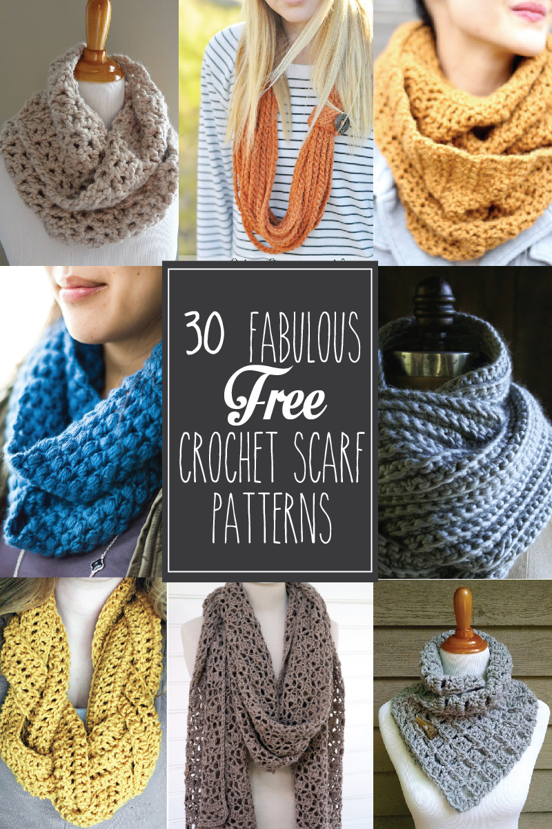 Knitting Scarf Pattern For Beginners Free 30 Fabulous And Free Crochet Scarf Patterns
