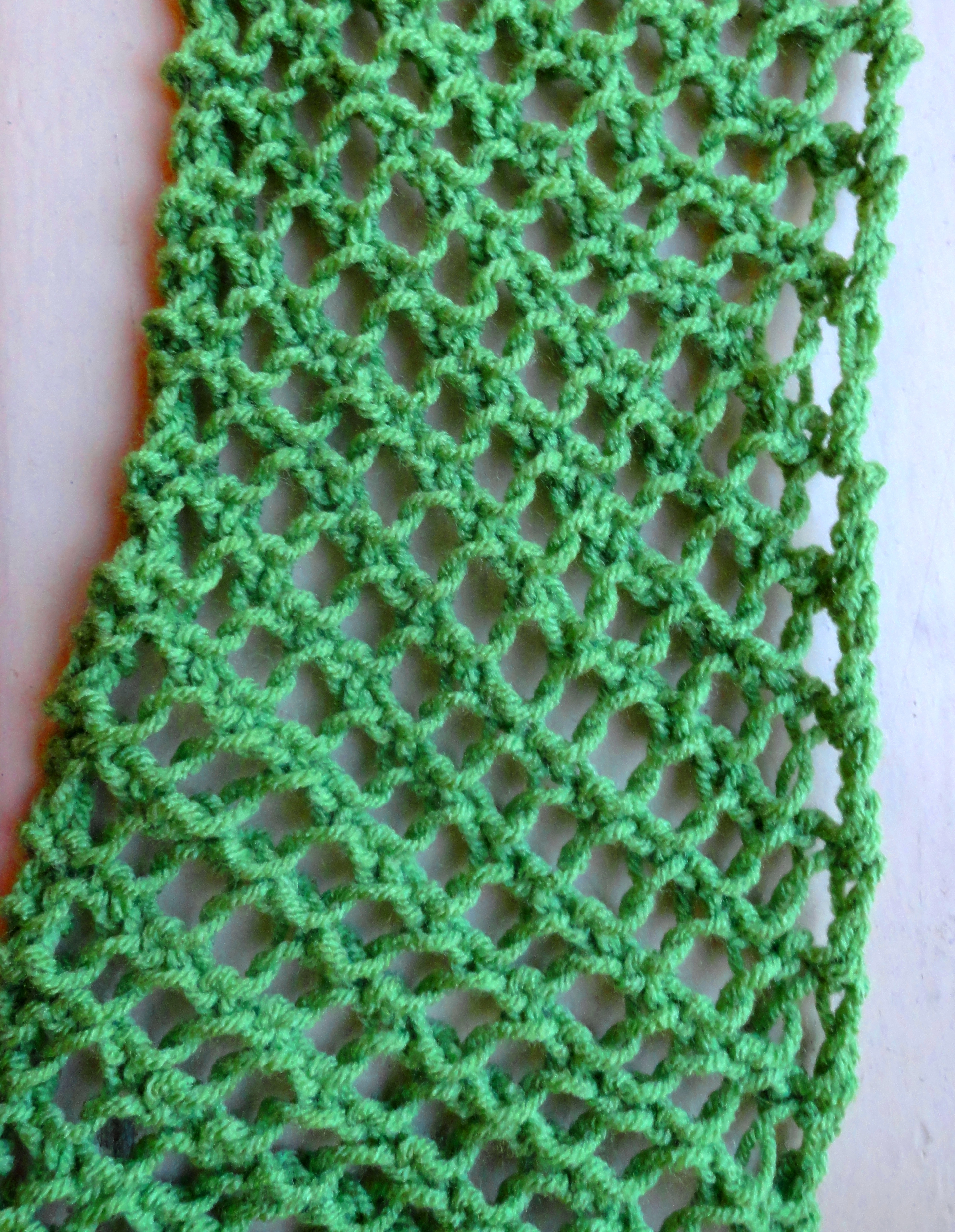 Knitting Scarf Pattern For Beginners Free Fishnet Scarf Pattern Lima Bean Lover