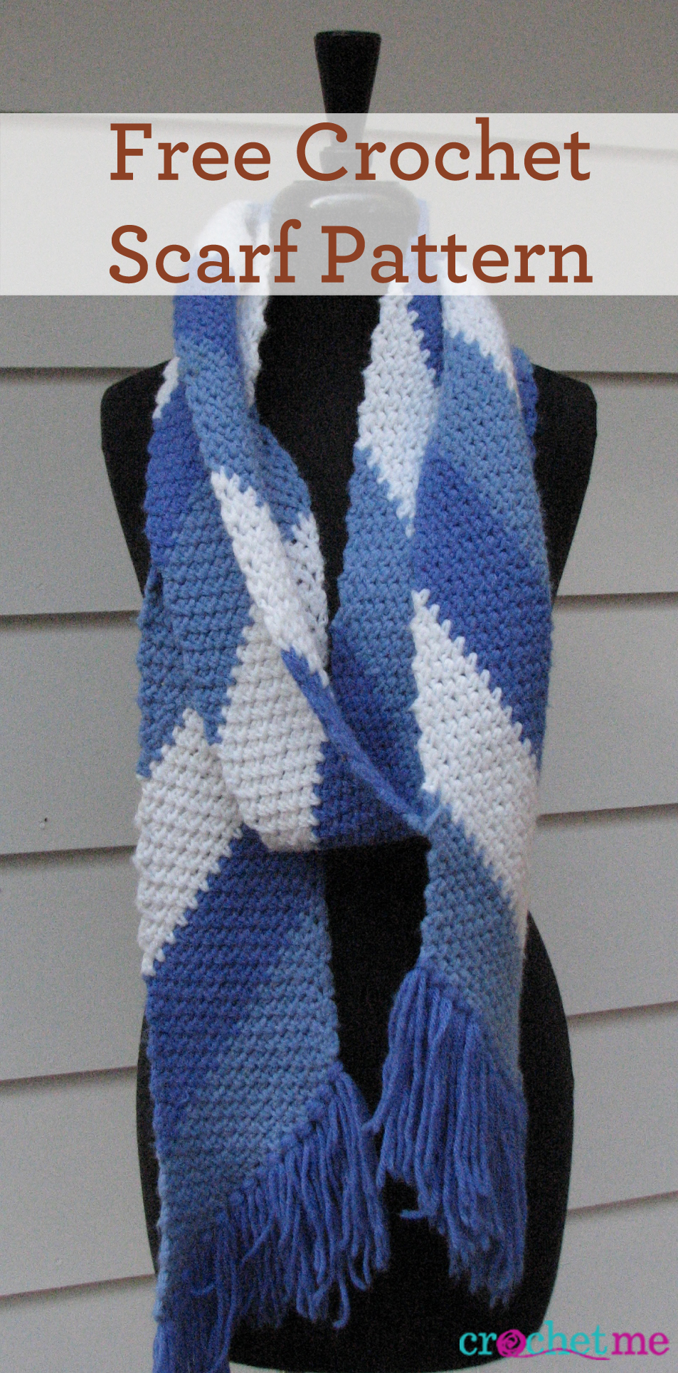 Knitting Scarf Pattern For Beginners Free Free Crochet Simple Striped Scarf Pattern Interweave