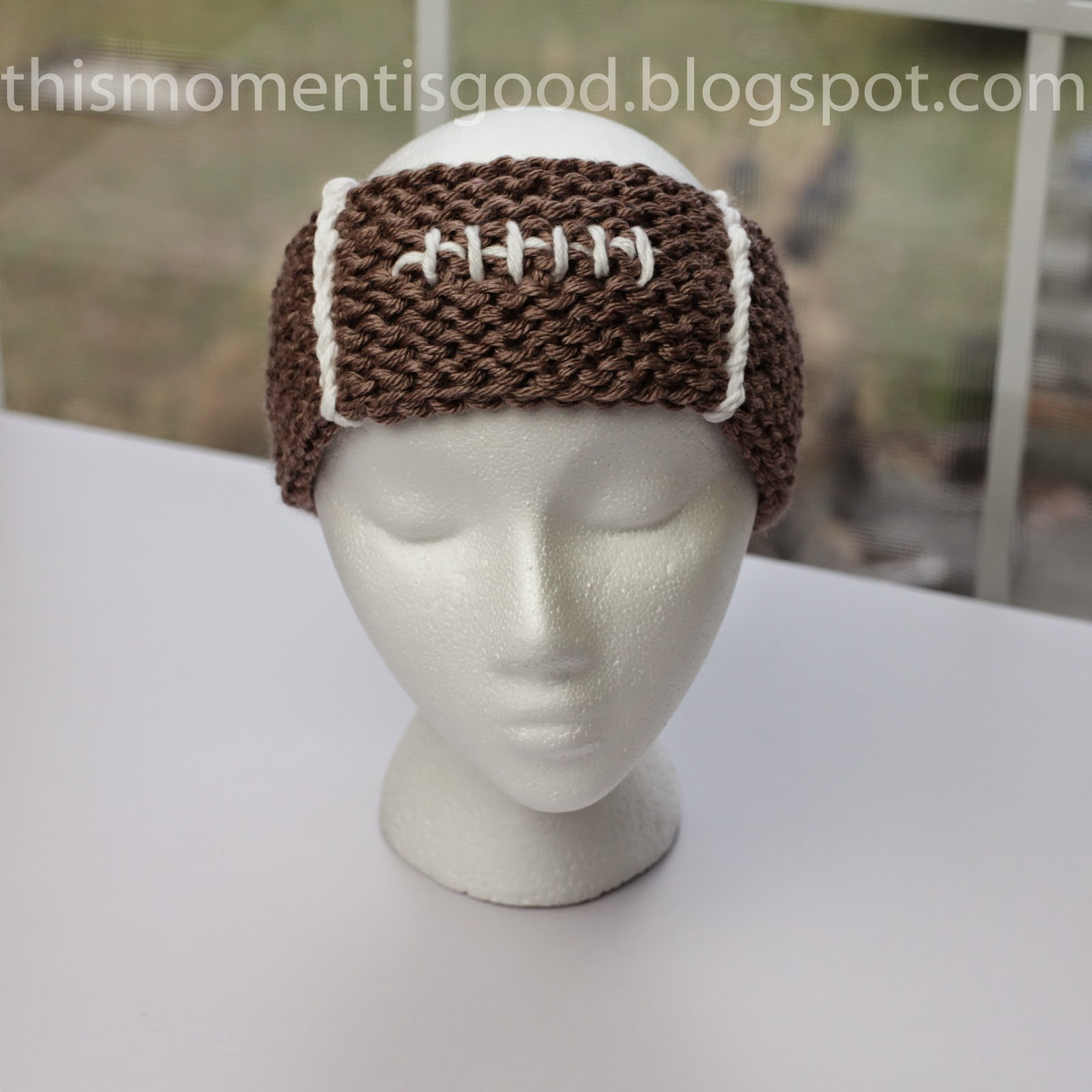 Loom Knit Hat Patterns Free Easy Loom Knit Football Headband Loom Knitting This Moment Is Good