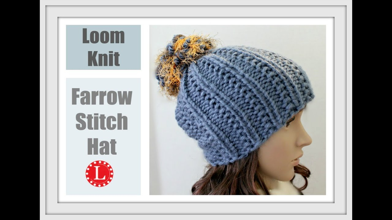 Loom Knit Hat Patterns Free How To Loom Knit A Hat With Out A Brim Farrow Stitch Beanie Round Loom