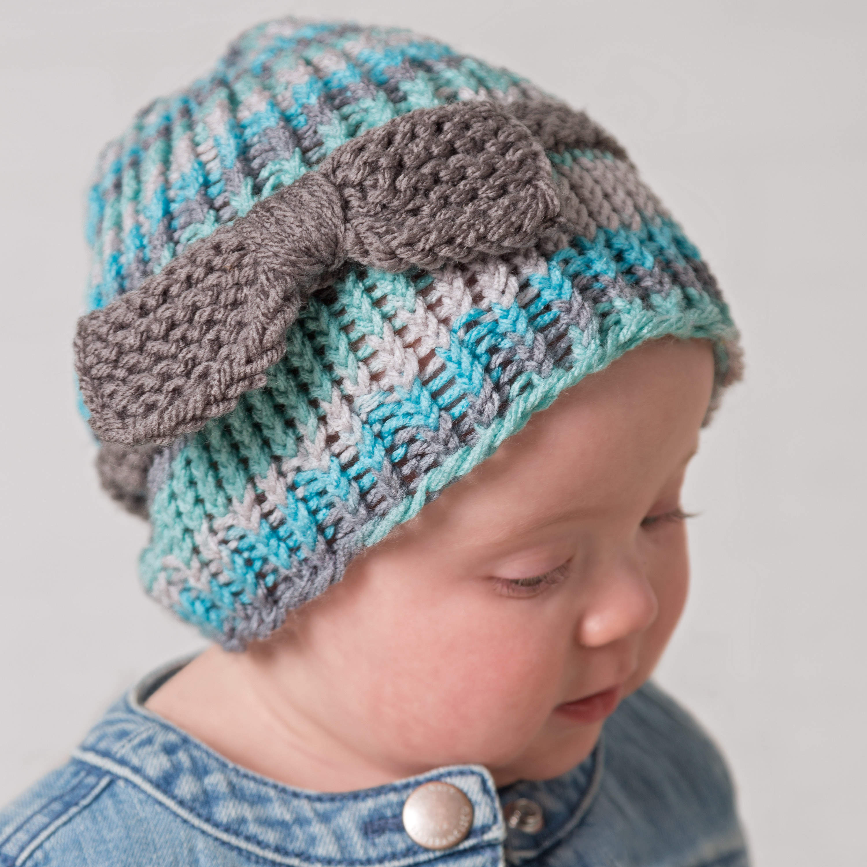 Loom Knit Hat Patterns Free Loom Knit Ba Or Toddler Bow Hat