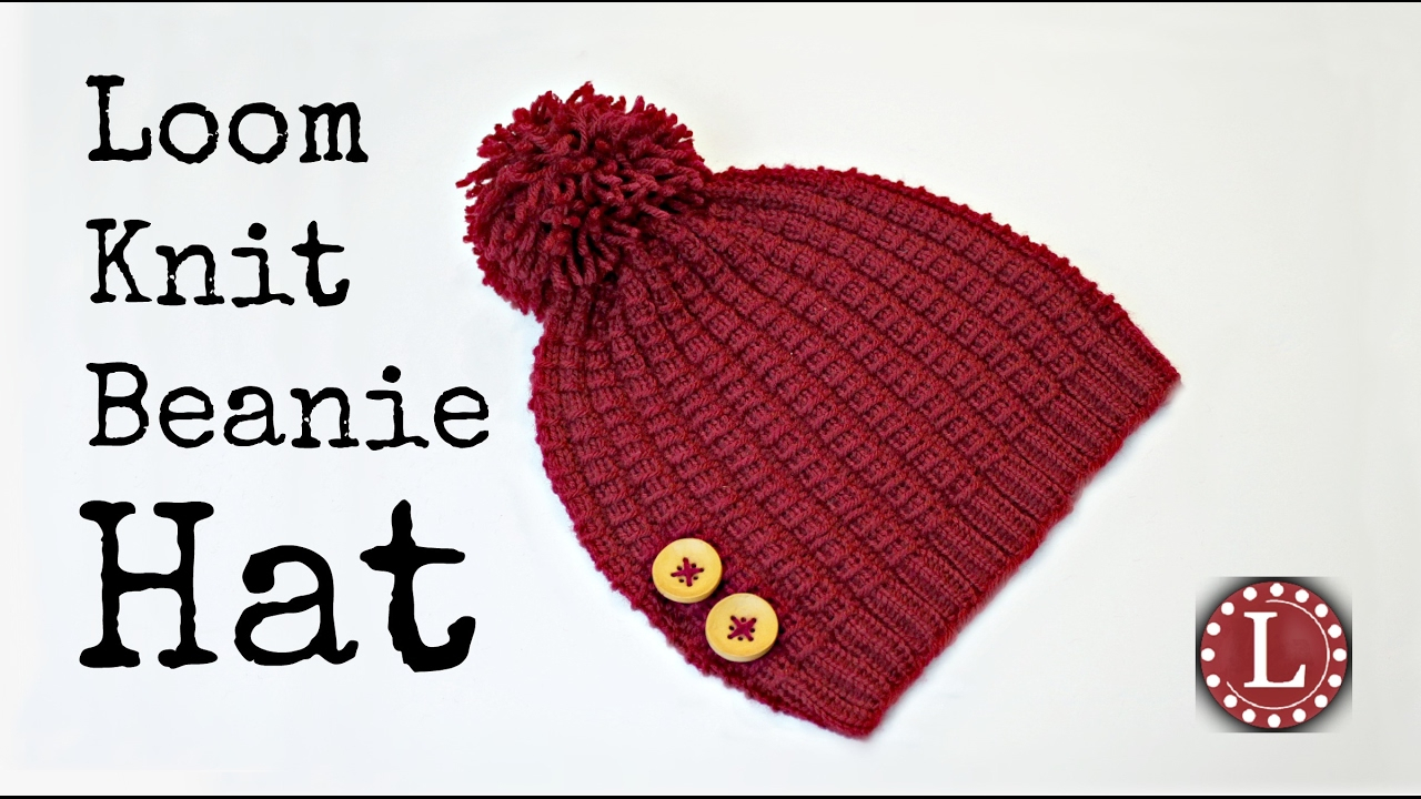 Loom Knit Hat Patterns Free Loom Knit Hat The Bamboo Stitch Beanie Loomahat